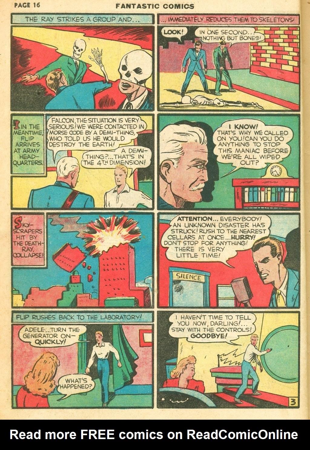 Read online Fantastic Comics comic -  Issue #12 - 18