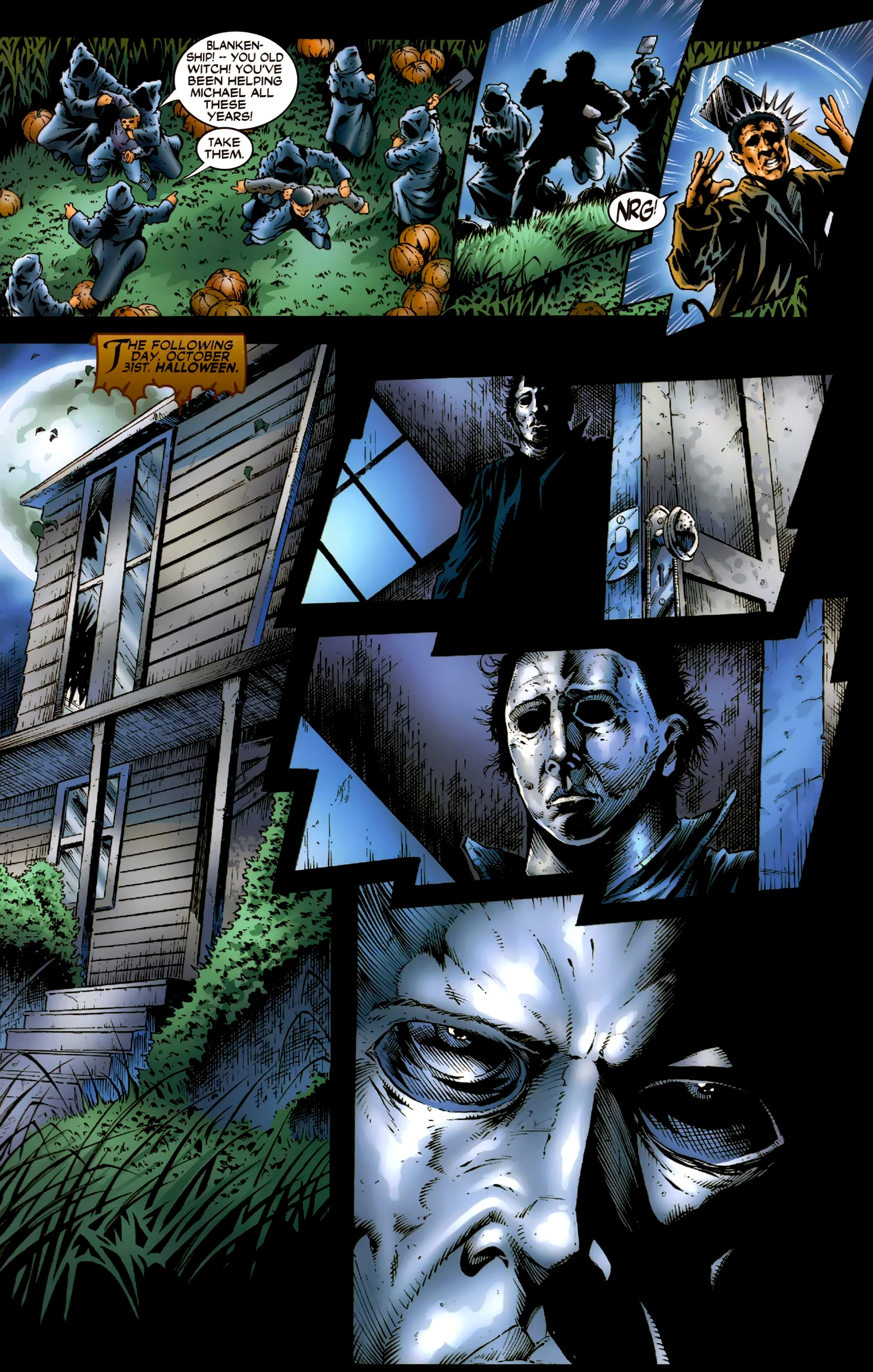 Read online Halloween II: The Blackest Eyes comic -  Issue # Full - 18