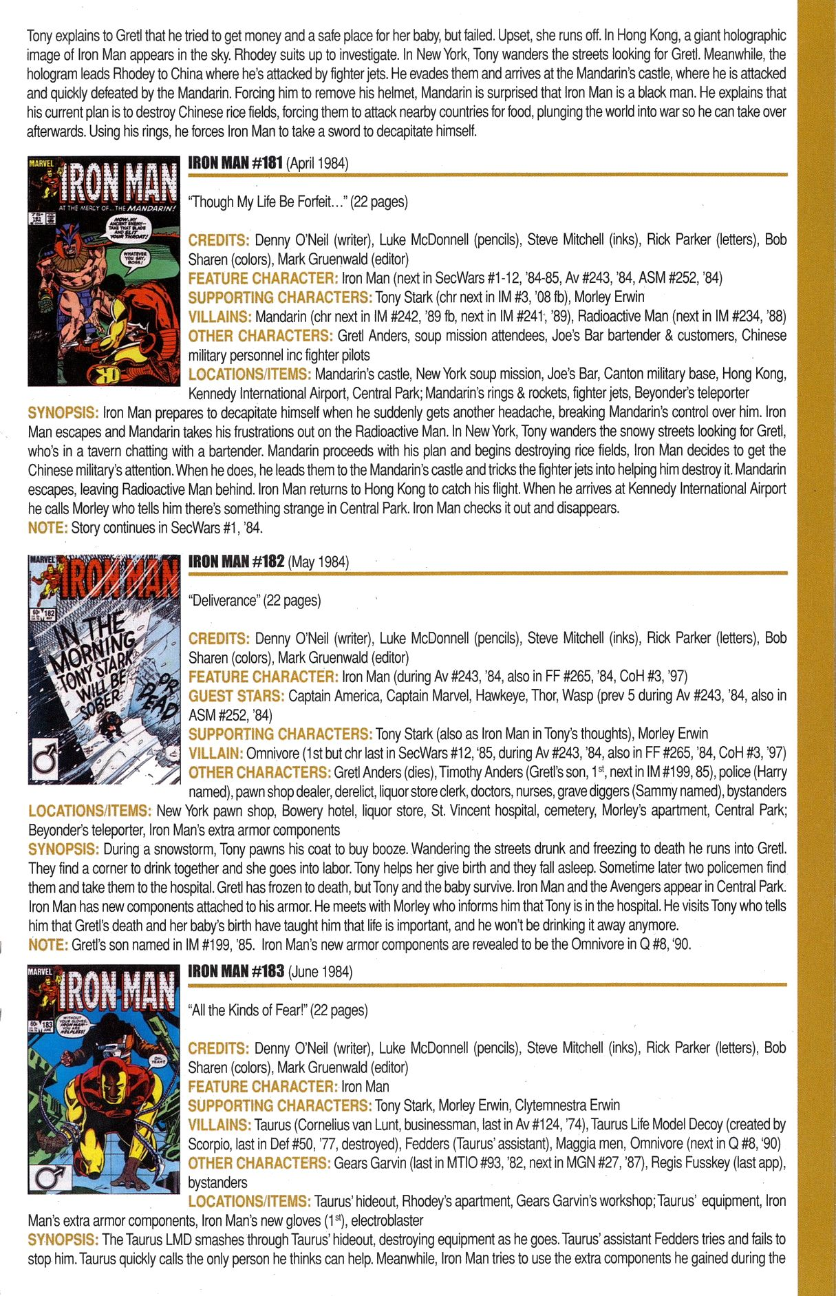 Read online Official Index to the Marvel Universe comic -  Issue #6 - 29