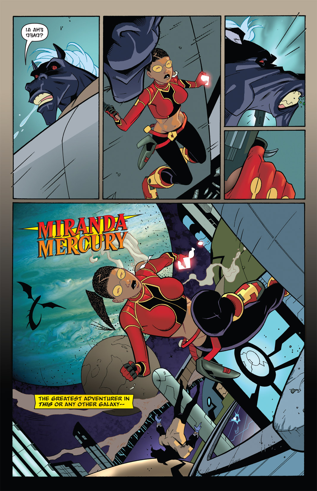 Read online The Many Adventures of Miranda Mercury: Time Runs Out comic -  Issue # TPB - 21