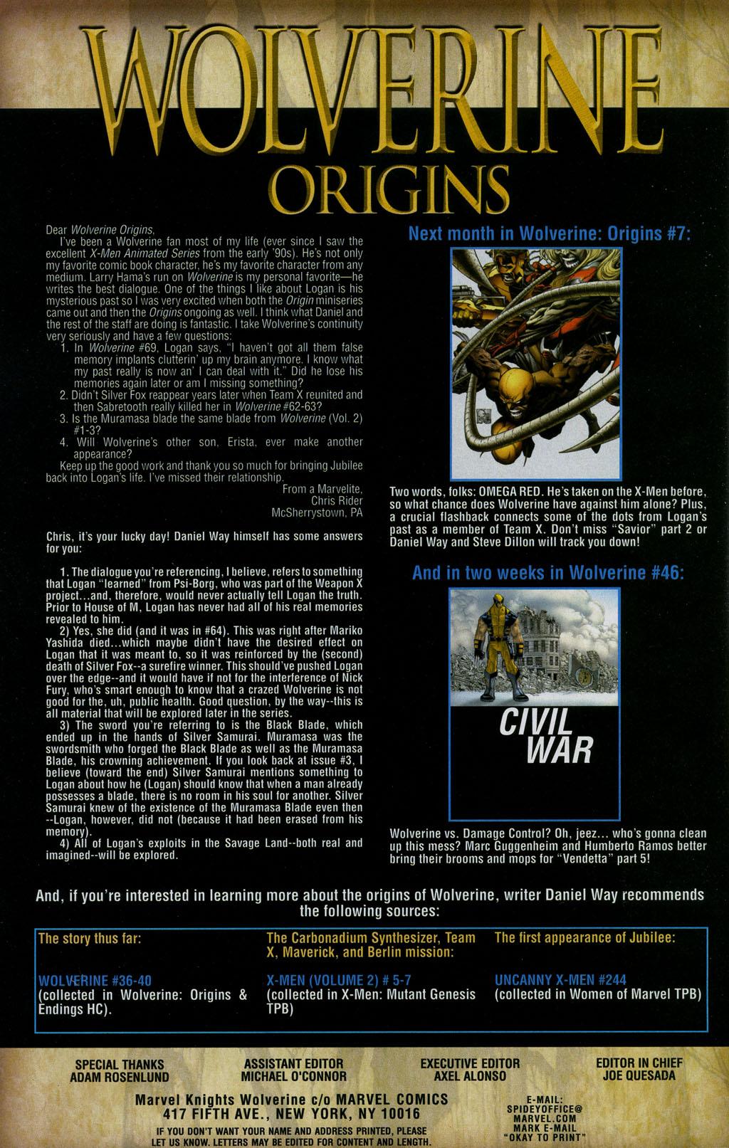 Read online Wolverine: Origins comic -  Issue #6 - 25