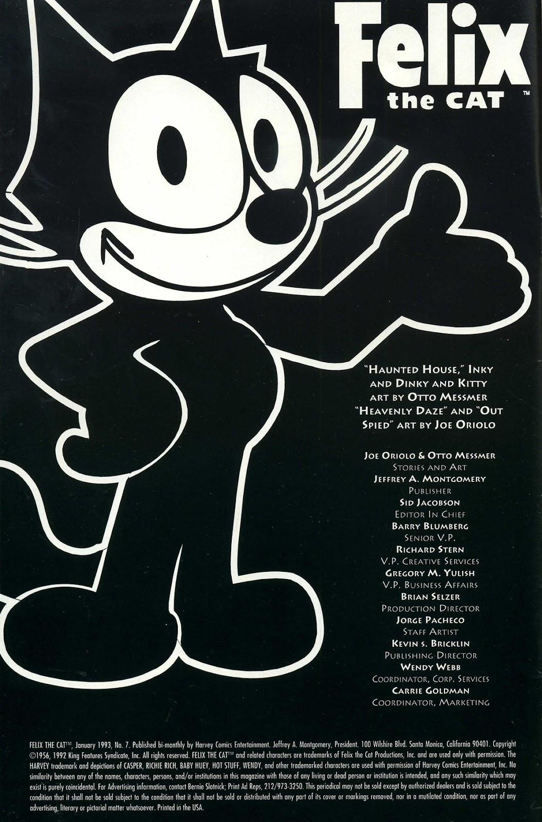 Read online Felix the Cat comic -  Issue #7 - 2