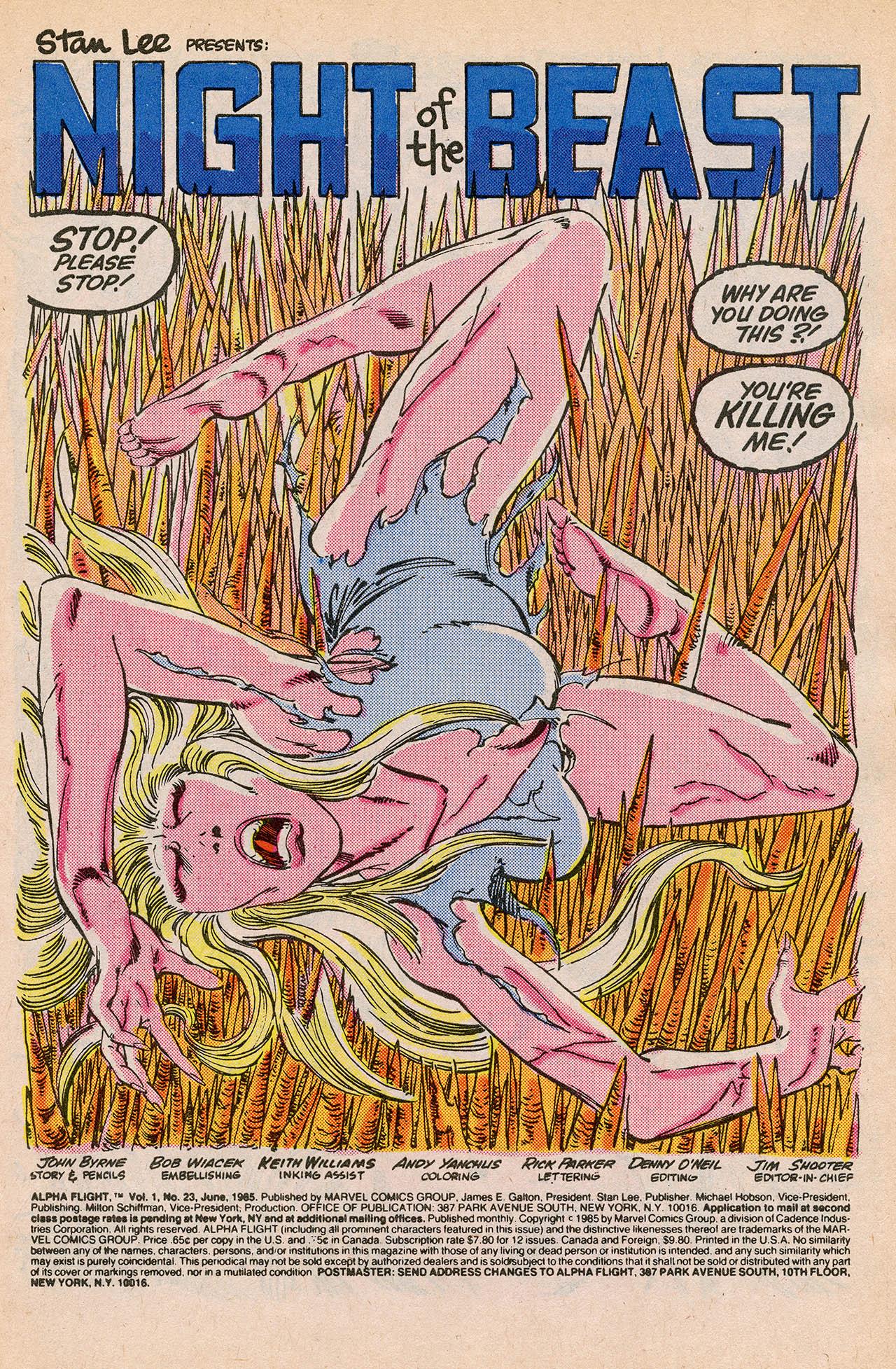 Read online Alpha Flight (1983) comic -  Issue #23 - 3