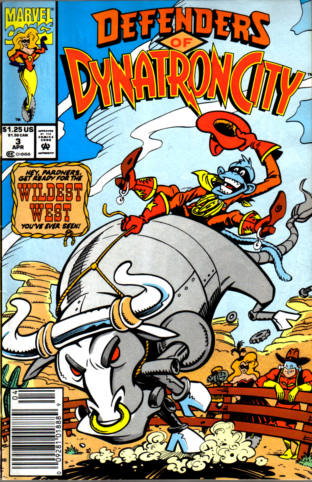 Read online Defenders of Dynatron City comic -  Issue #3 - 1