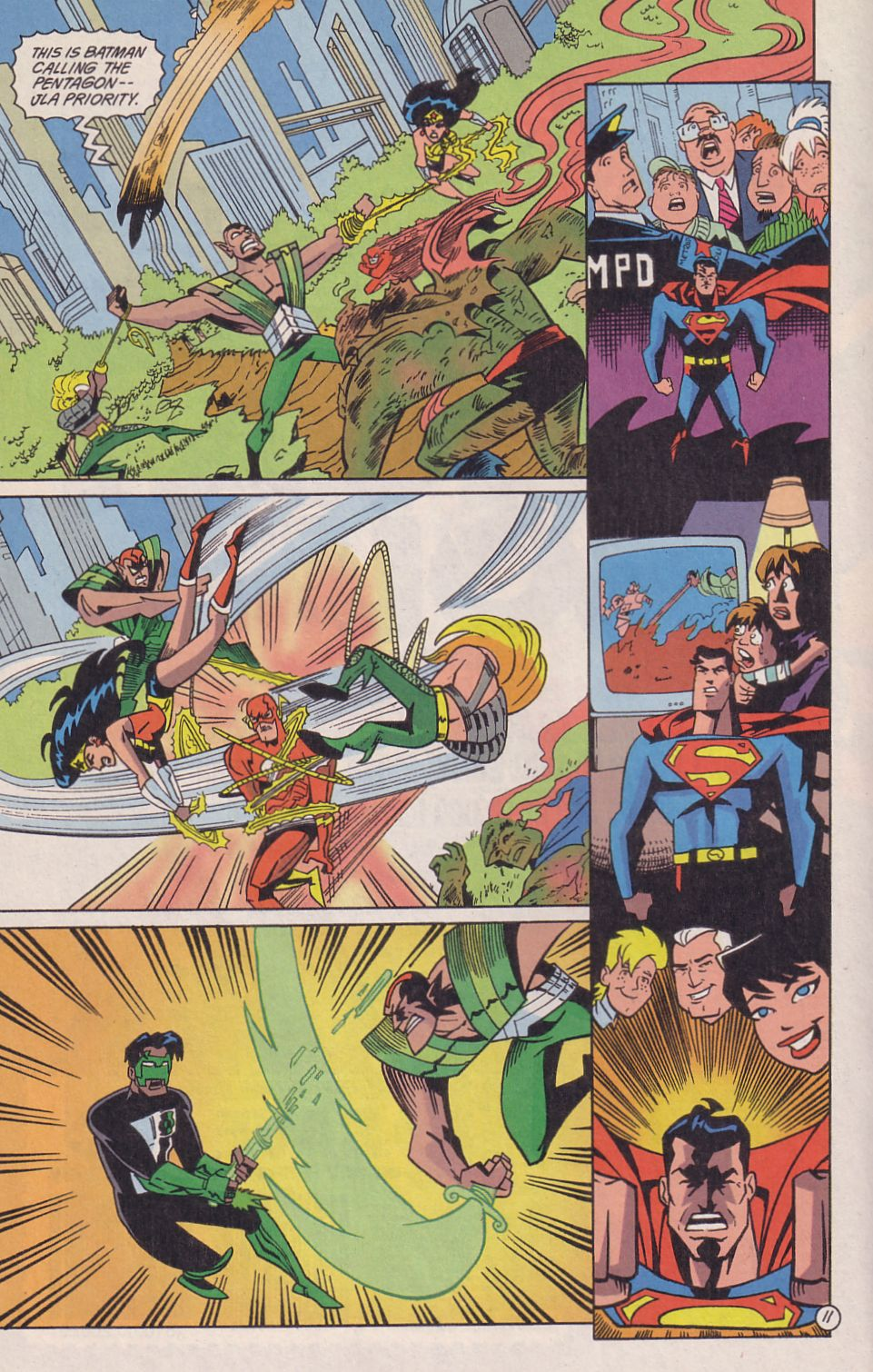 Read online Adventures in the DC Universe comic -  Issue #18 - 12