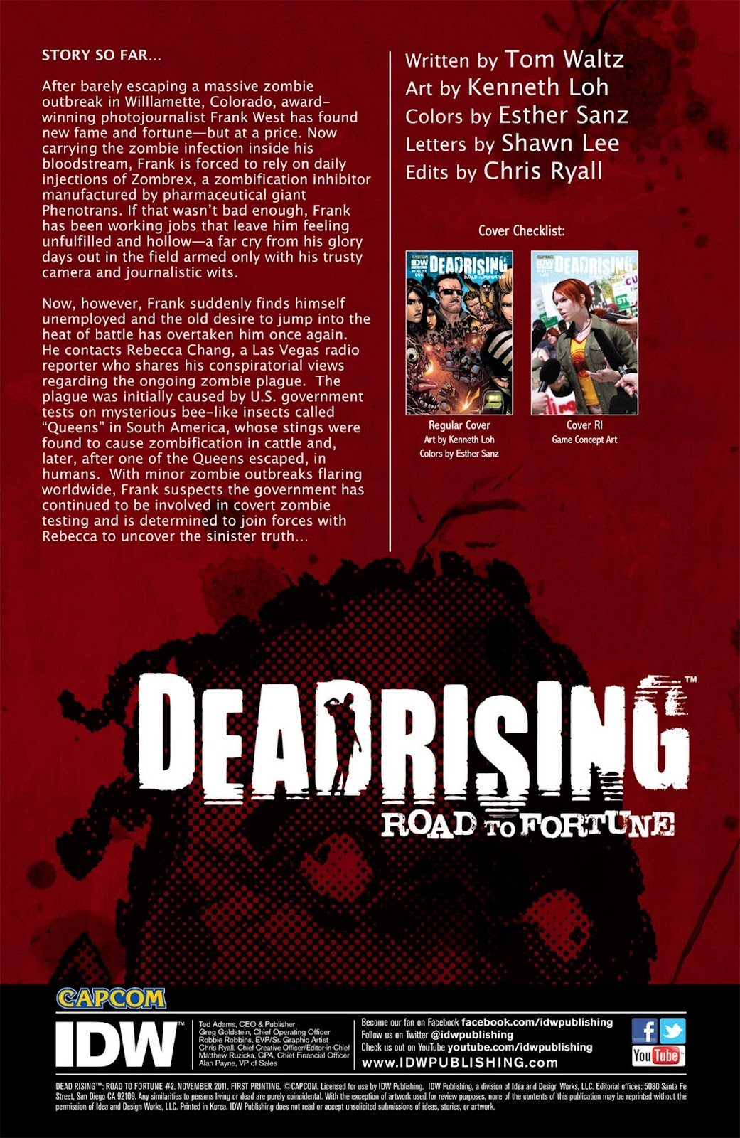 Read online Dead Rising: Road to Fortune comic -  Issue #2 - 3