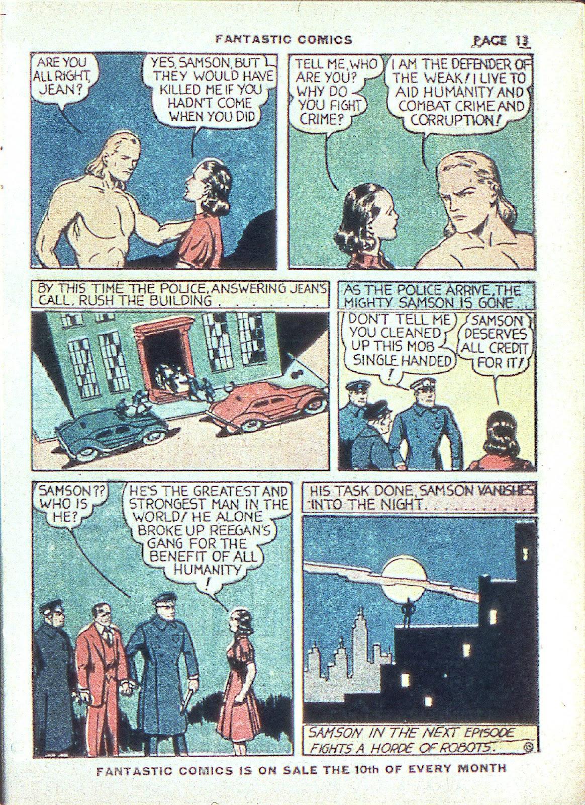 Read online Fantastic Comics comic -  Issue #3 - 16