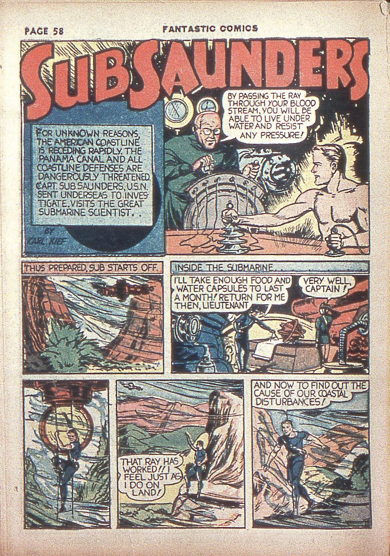 Read online Fantastic Comics comic -  Issue #4 - 59