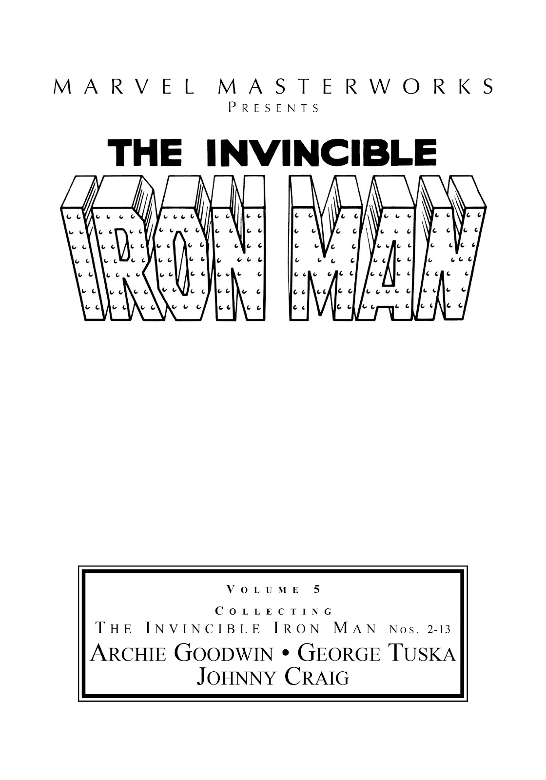 Read online Marvel Masterworks: The Invincible Iron Man comic -  Issue # TPB 5 (Part 1) - 2