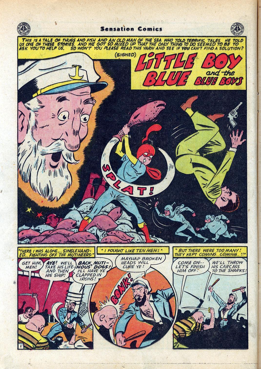 Read online Sensation (Mystery) Comics comic -  Issue #45 - 16