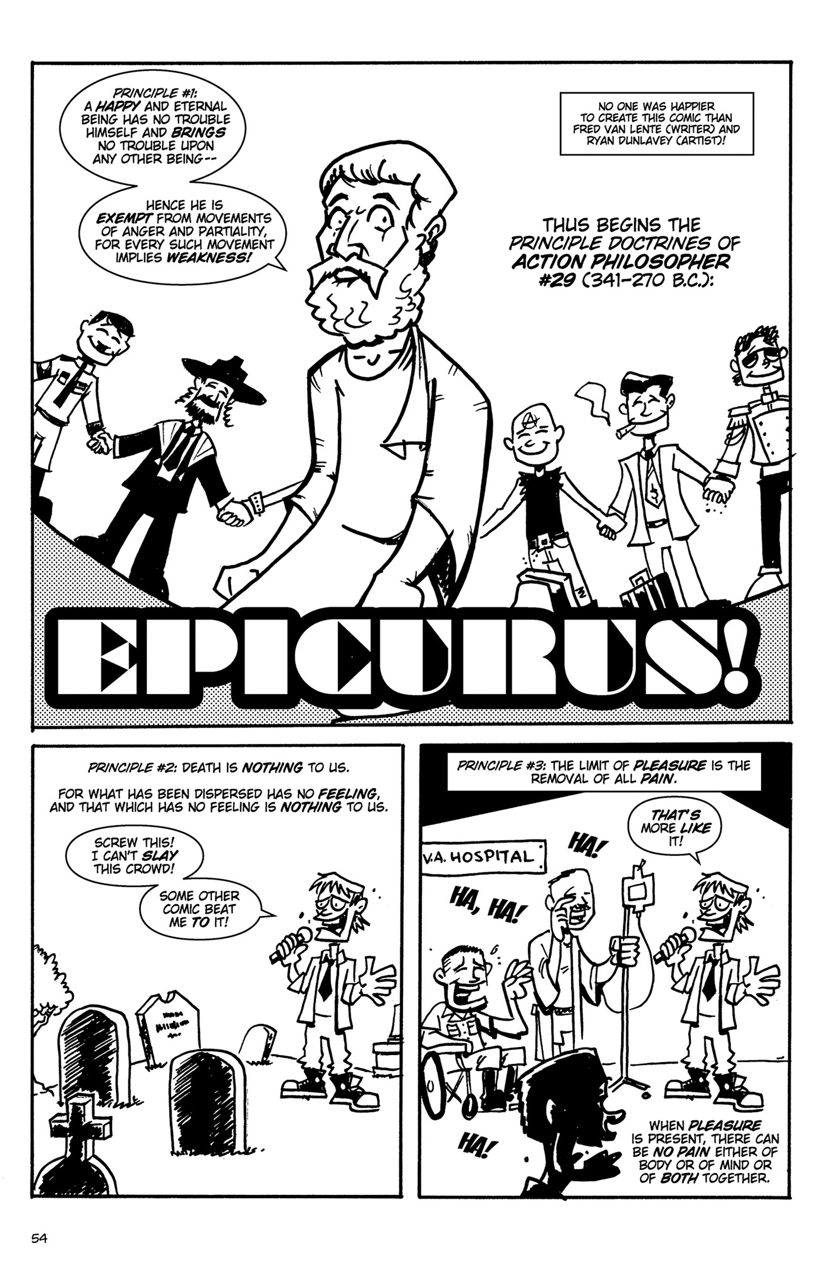 Read online Action Philosophers! comic -  Issue #Action Philosophers! TPB (Part 1) - 54