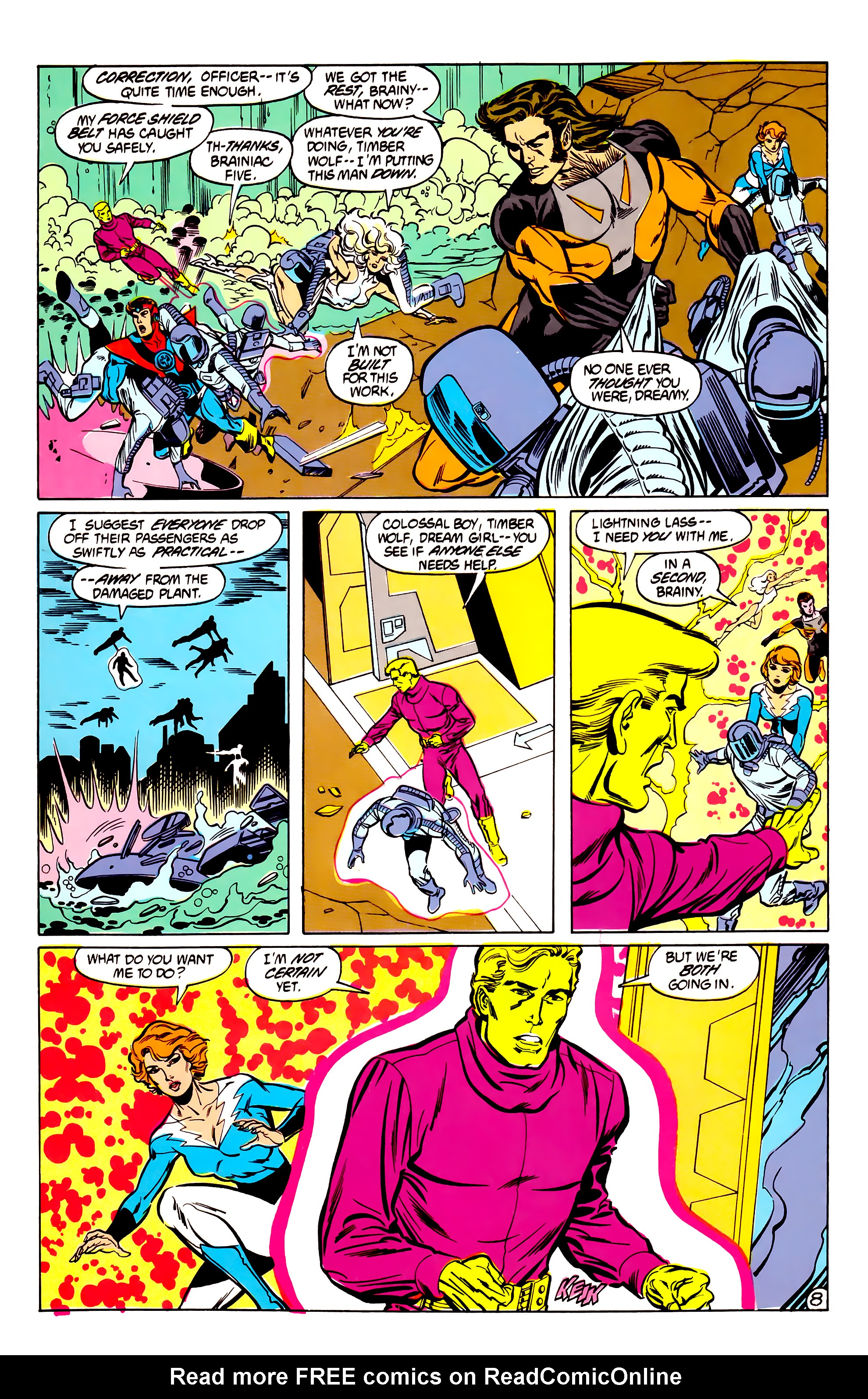 Legion of Super-Heroes (1984) 30 Page 8