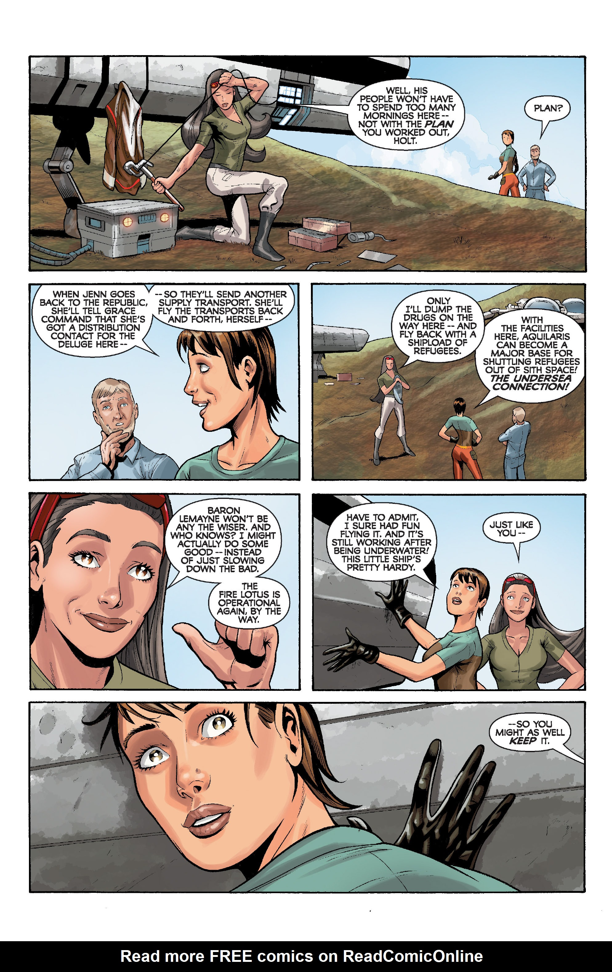 Read online Star Wars: Knight Errant - Deluge comic -  Issue #5 - 23