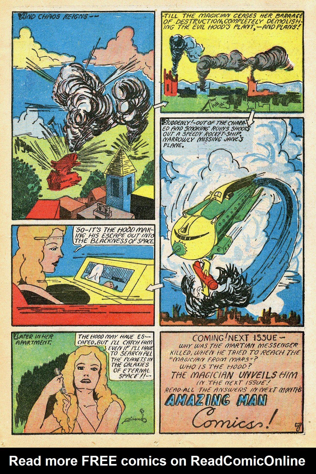 Read online Amazing Man Comics comic -  Issue #10 - 26