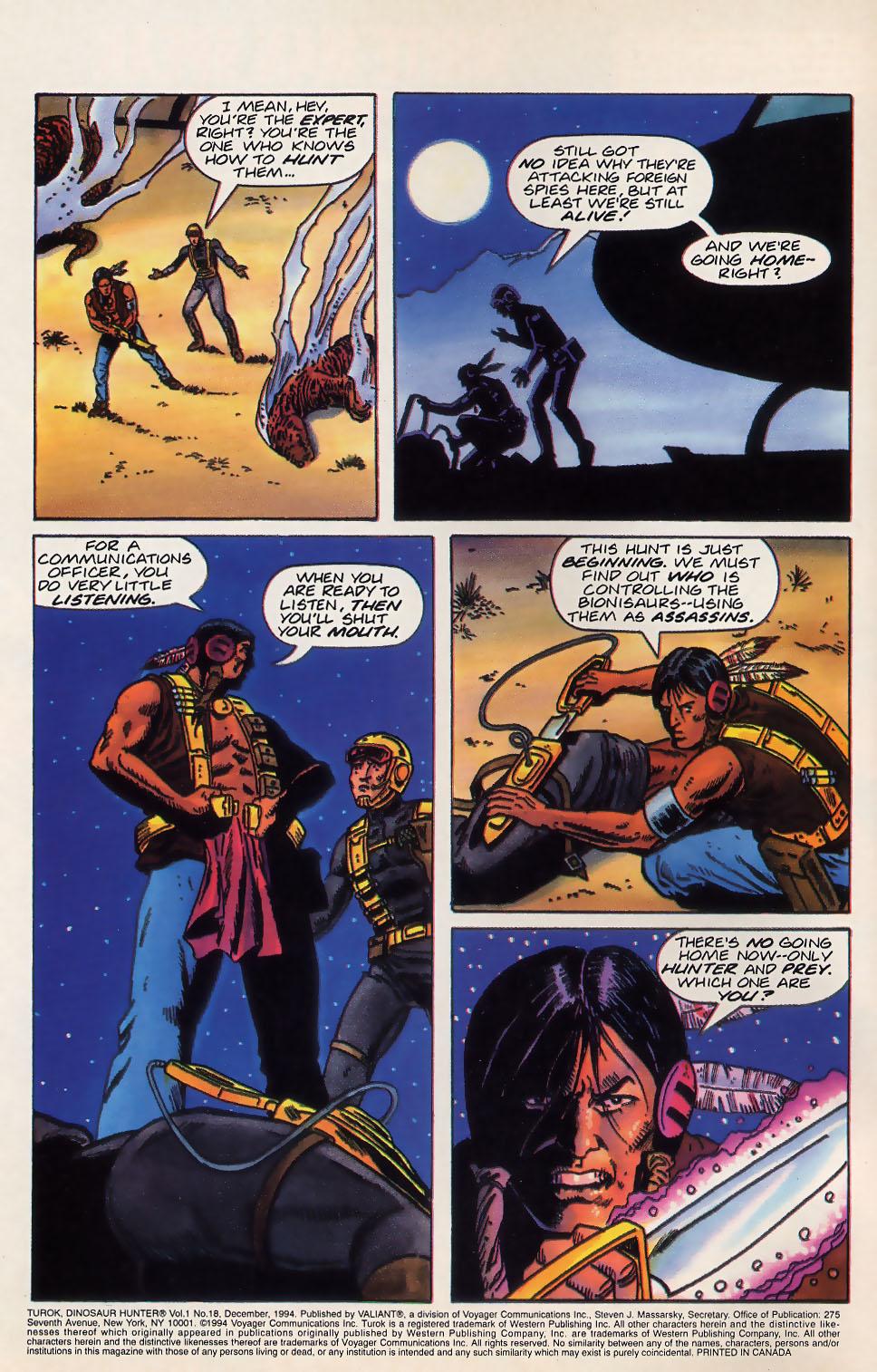 Read online Turok, Dinosaur Hunter (1993) comic -  Issue #18 - 3