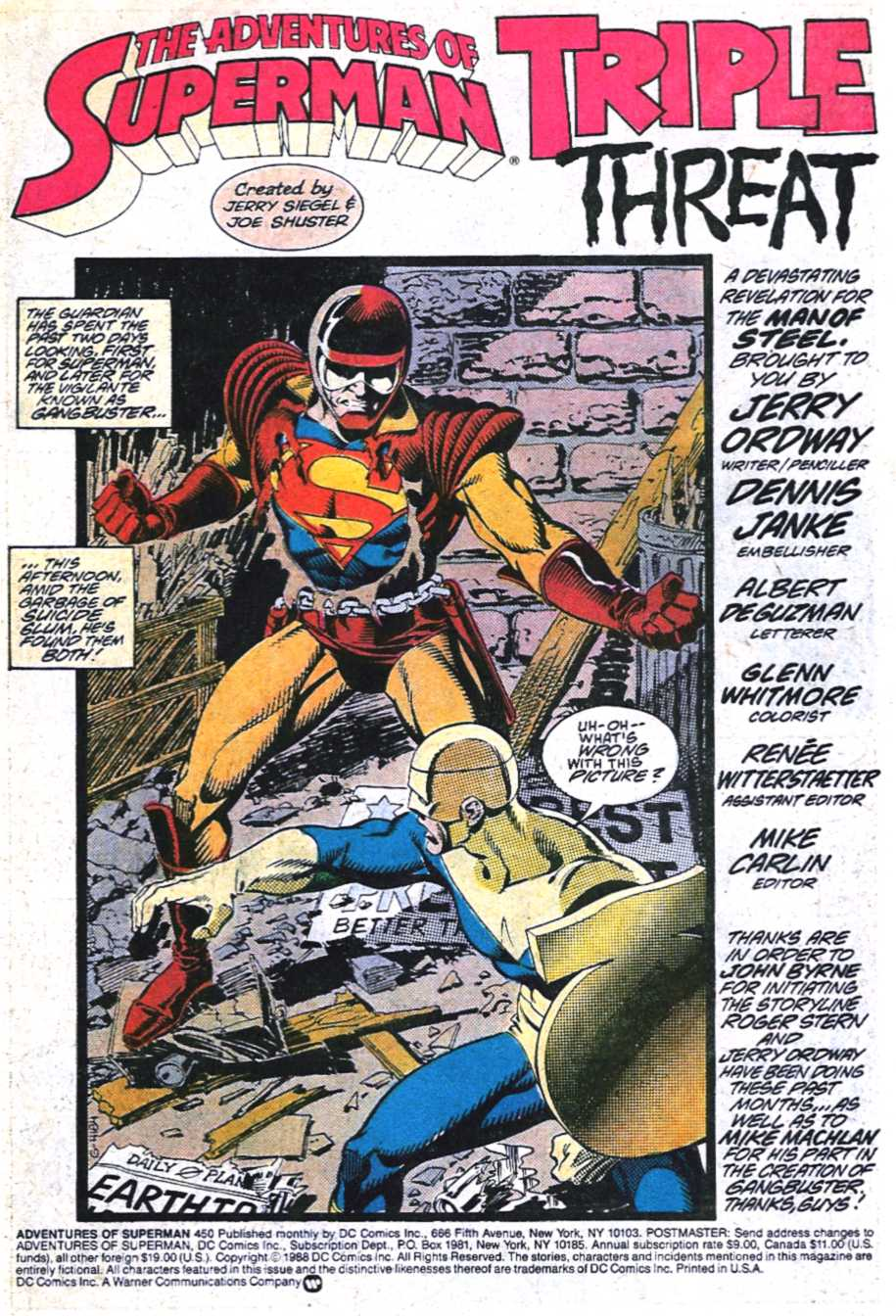 Read online Adventures of Superman (1987) comic -  Issue #450 - 2