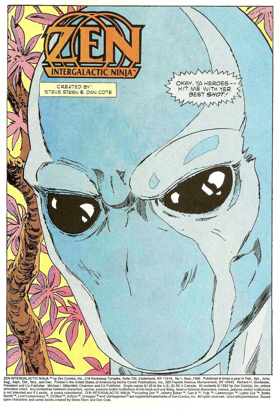 Read online Zen Intergalactic Ninja (1992) comic -  Issue #1 - 3