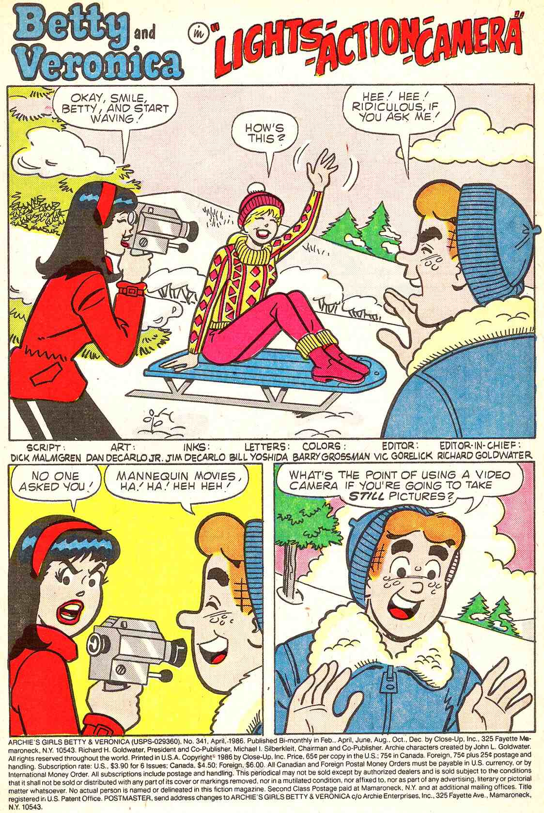 Read online Archie's Girls Betty and Veronica comic -  Issue #341 - 3