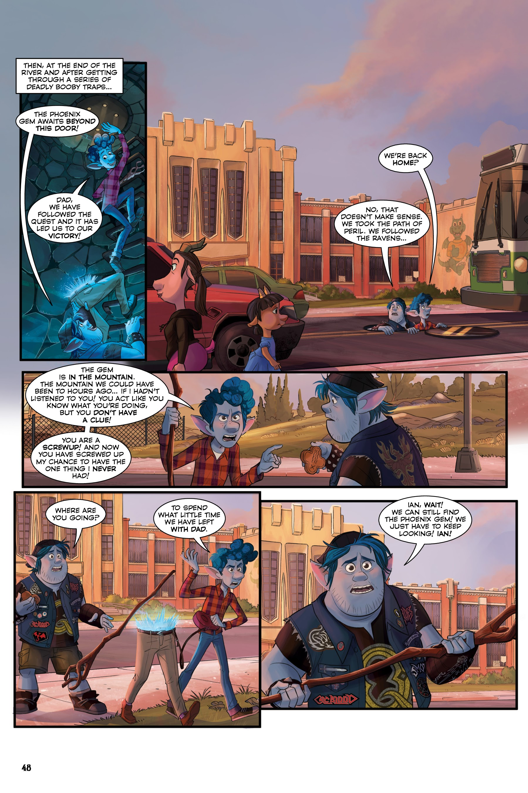 Onward: The Story of the Movie in Comics TPB | Read All