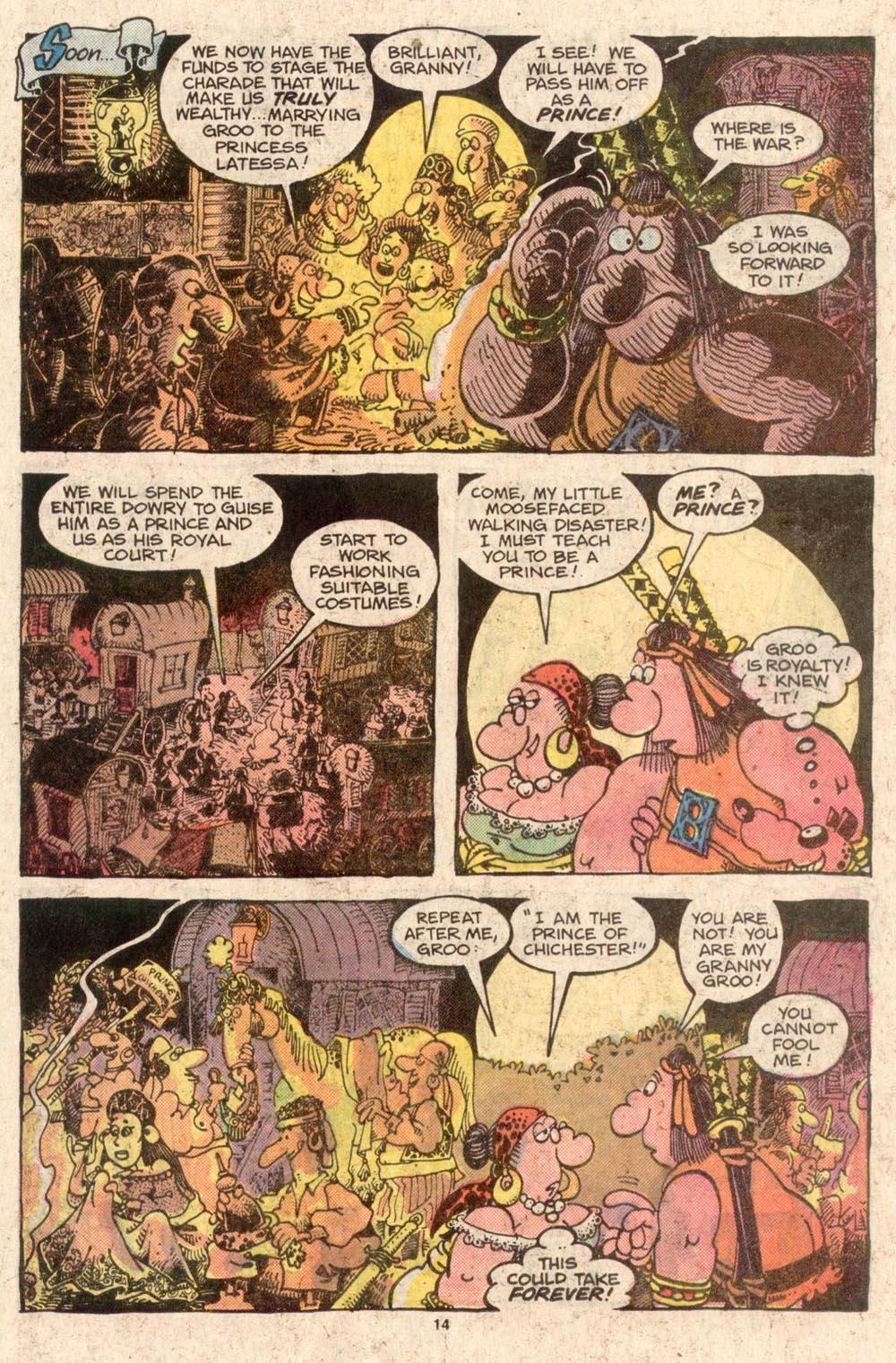 Read online Sergio Aragonés Groo the Wanderer comic -  Issue #42 - 14
