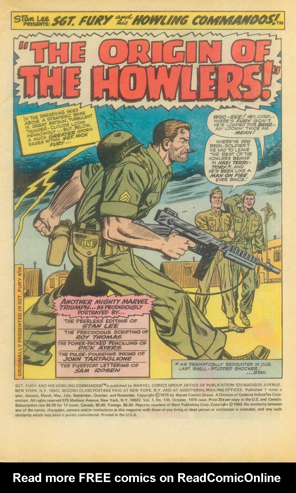Read online Sgt. Fury comic -  Issue #136 - 3