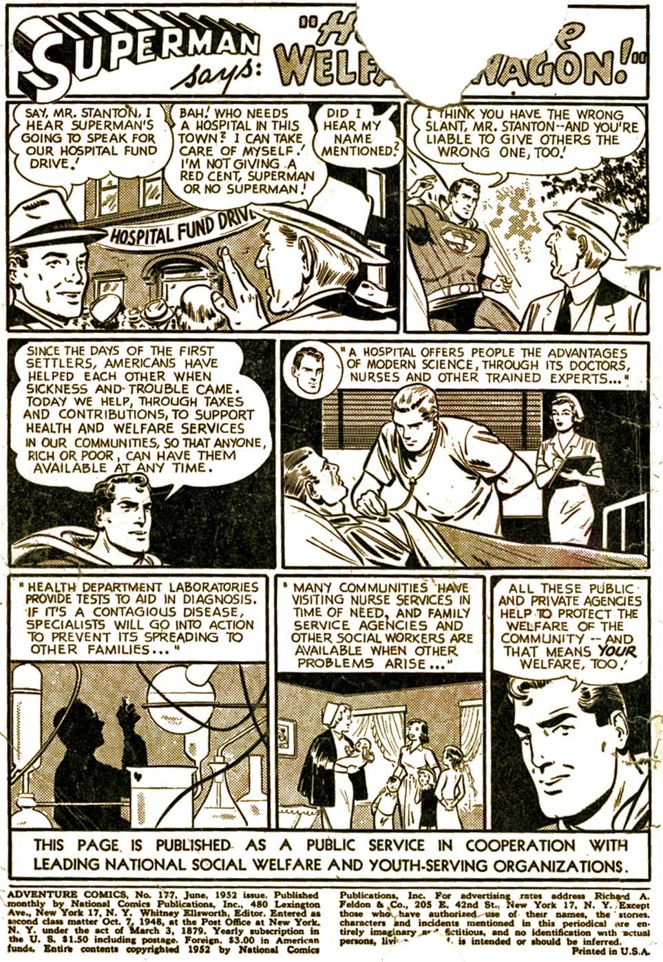 Read online Adventure Comics (1938) comic -  Issue #177 - 2