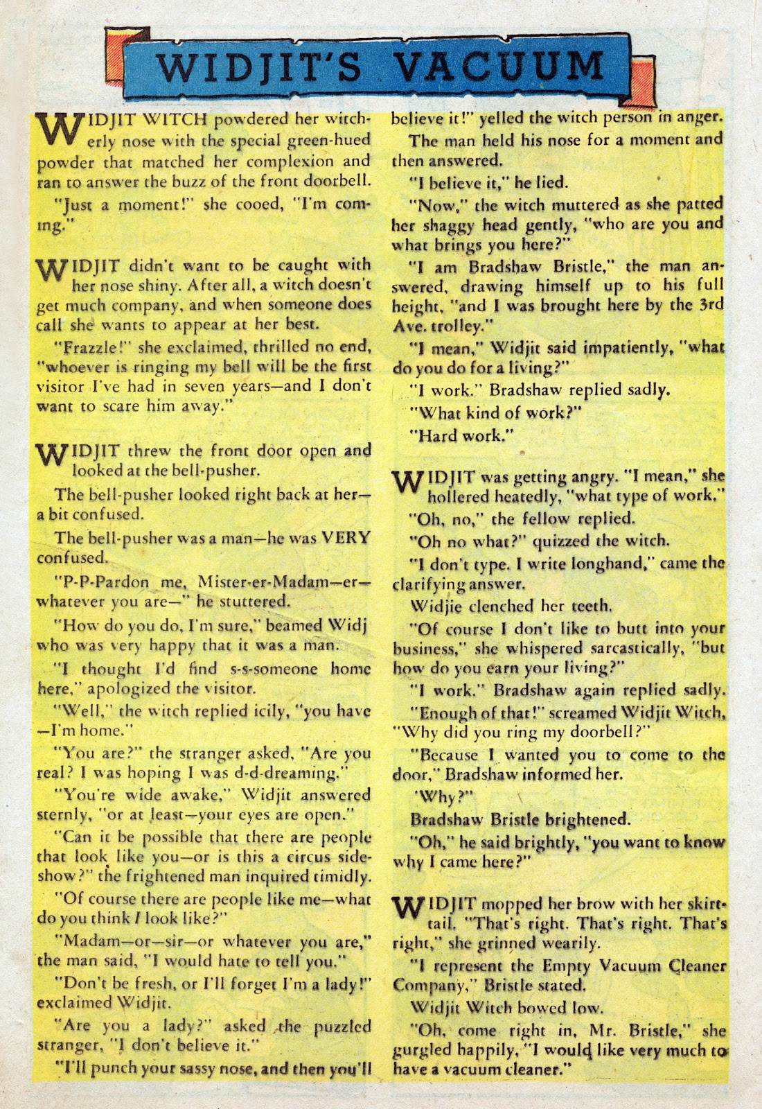 Read online Comedy Comics (1942) comic -  Issue #25 - 32