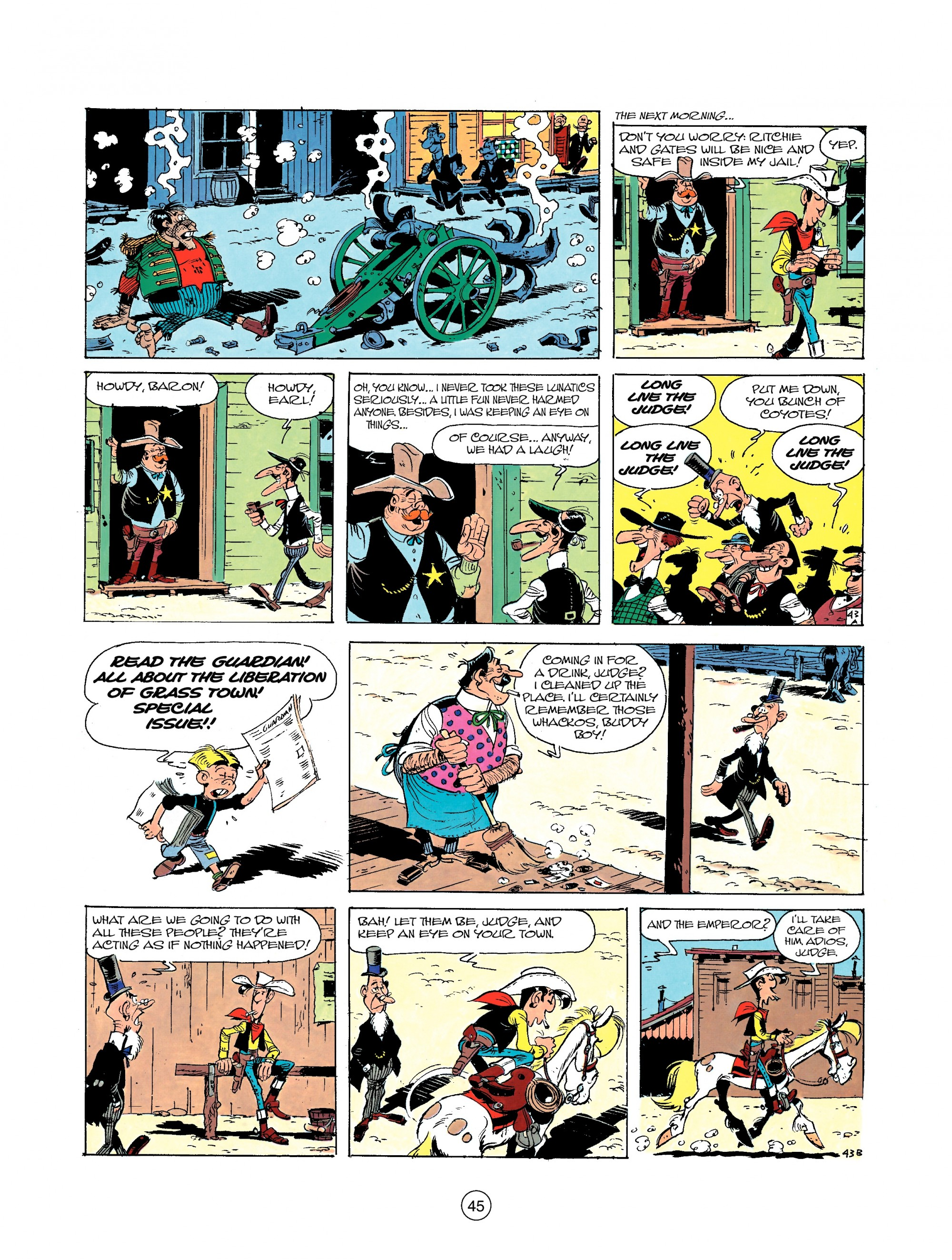 Read online A Lucky Luke Adventure comic -  Issue #22 - 45