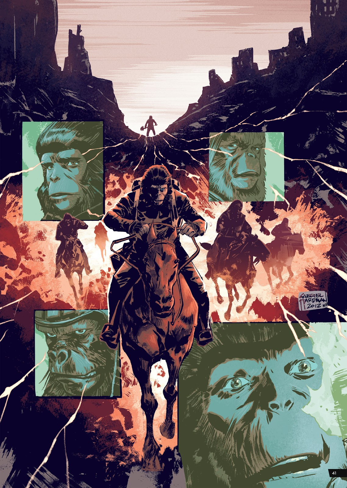 Read online Planet of the Apes Artist Tribute comic -  Issue # TPB - 41