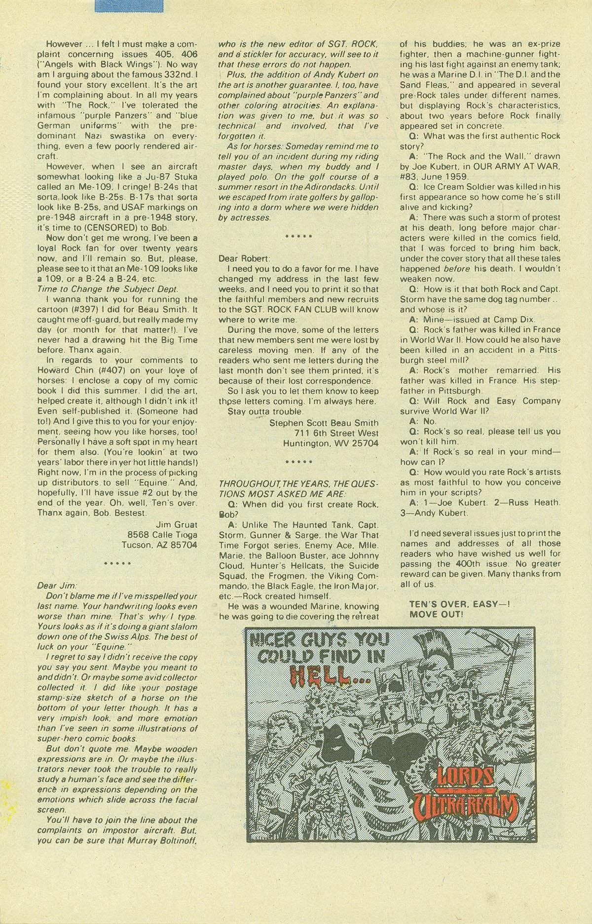 Read online Sgt. Rock comic -  Issue #411 - 33