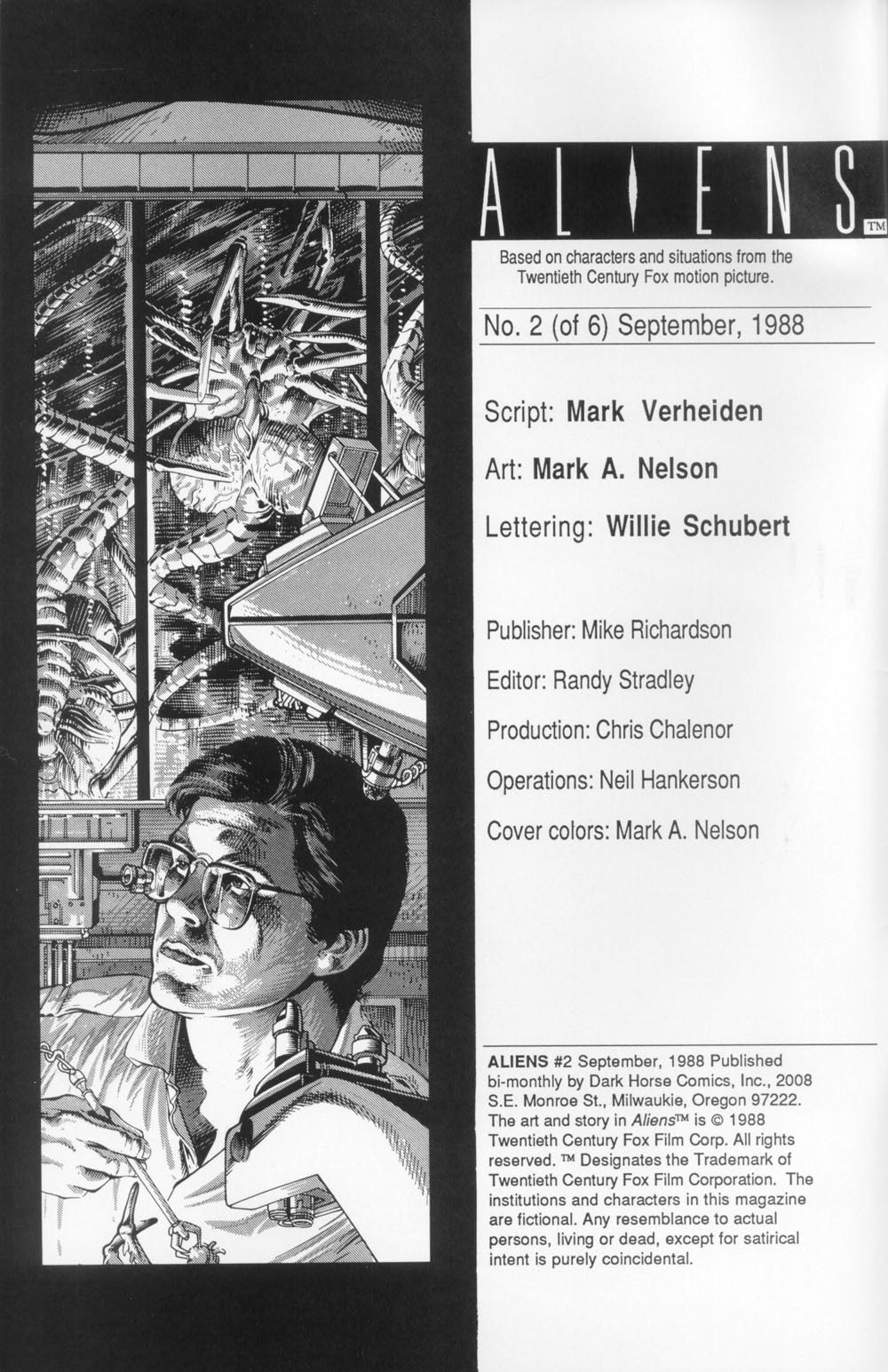 Read online Aliens (1988) comic -  Issue #2 - 2