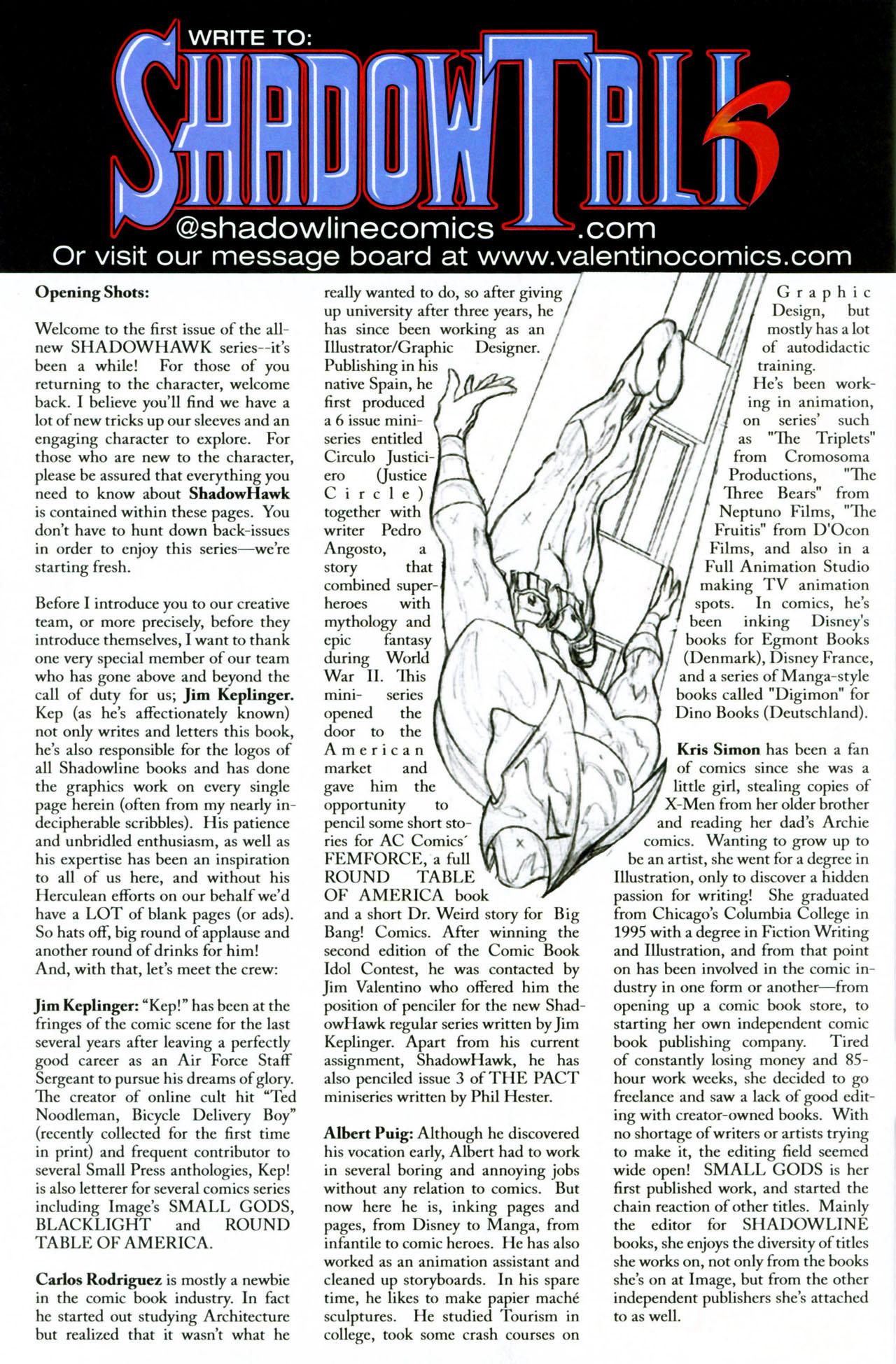 Read online ShadowHawk (2005) comic -  Issue #1 - 33