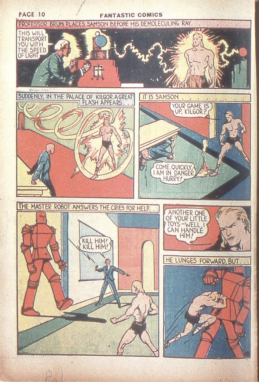 Read online Fantastic Comics comic -  Issue #4 - 12