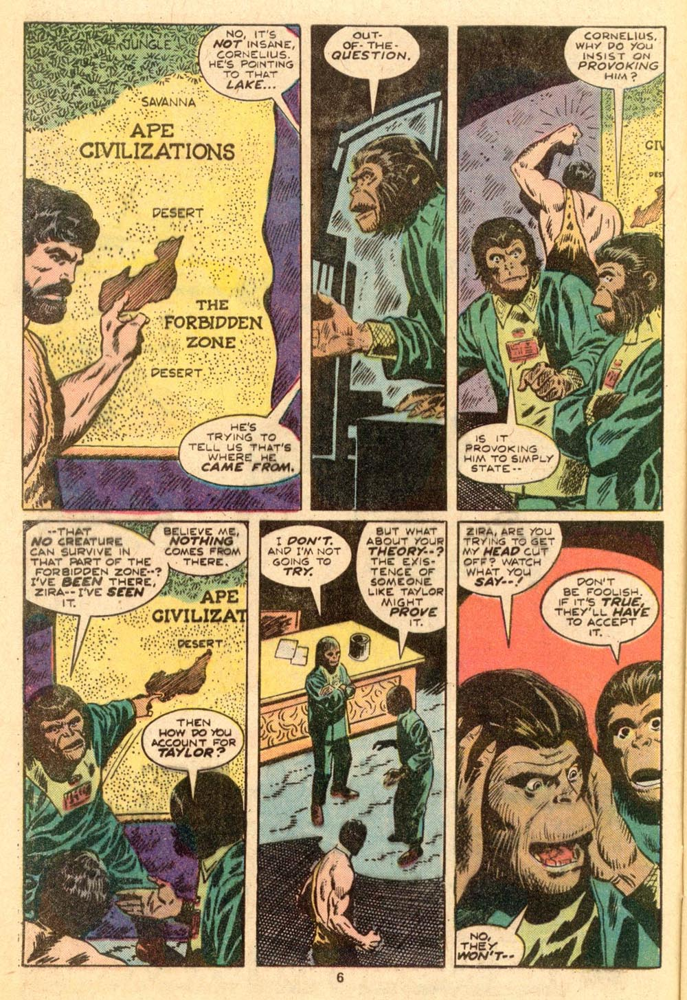 Read online Adventures on the Planet of the Apes comic -  Issue #3 - 5