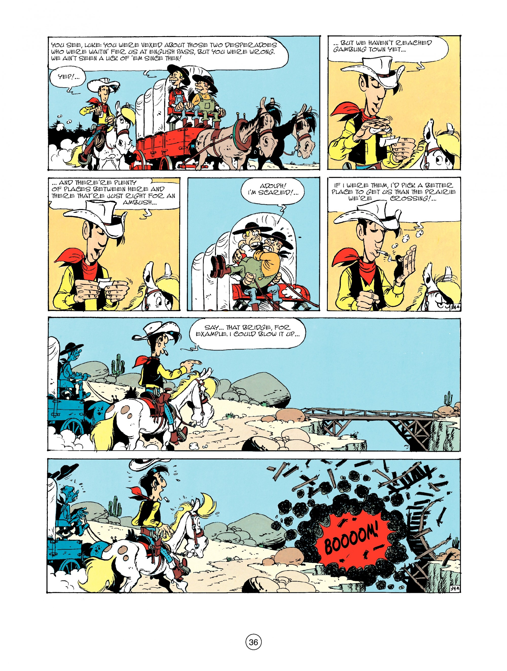 Read online A Lucky Luke Adventure comic -  Issue #33 - 36