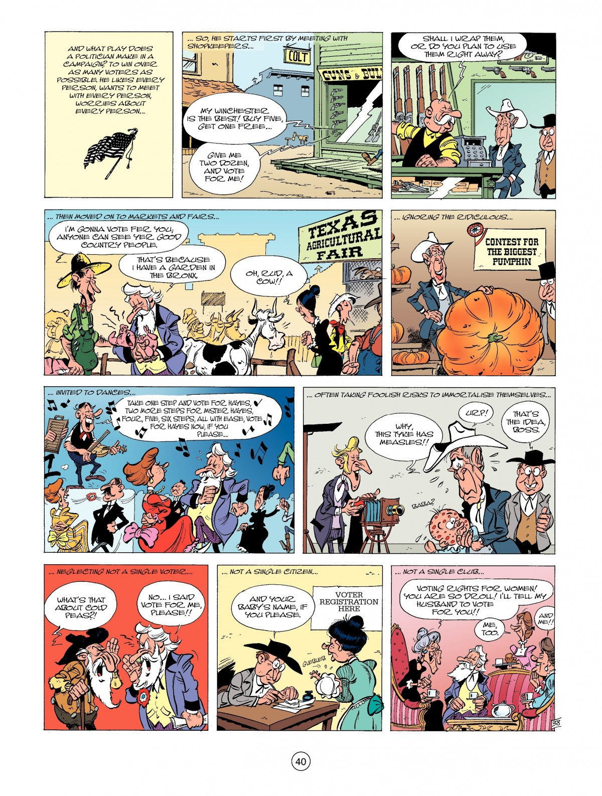 Read online A Lucky Luke Adventure comic -  Issue #39 - 40