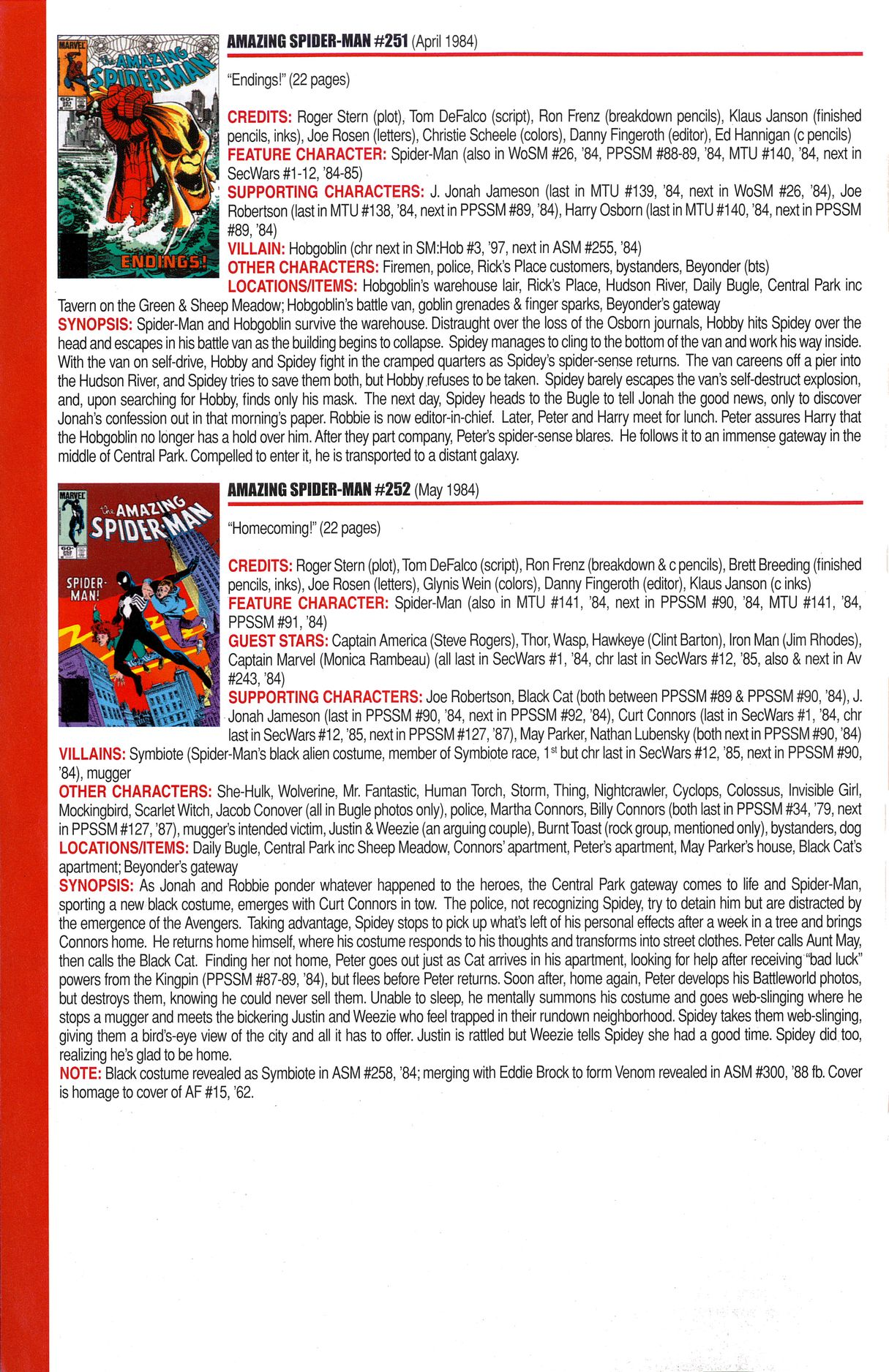 Read online Official Index to the Marvel Universe comic -  Issue #6 - 6
