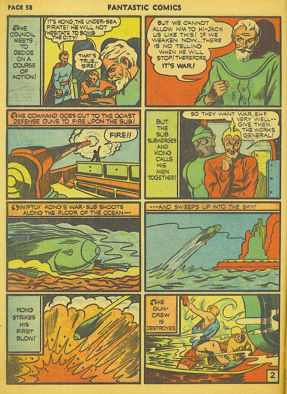 Read online Fantastic Comics comic -  Issue #15 - 53