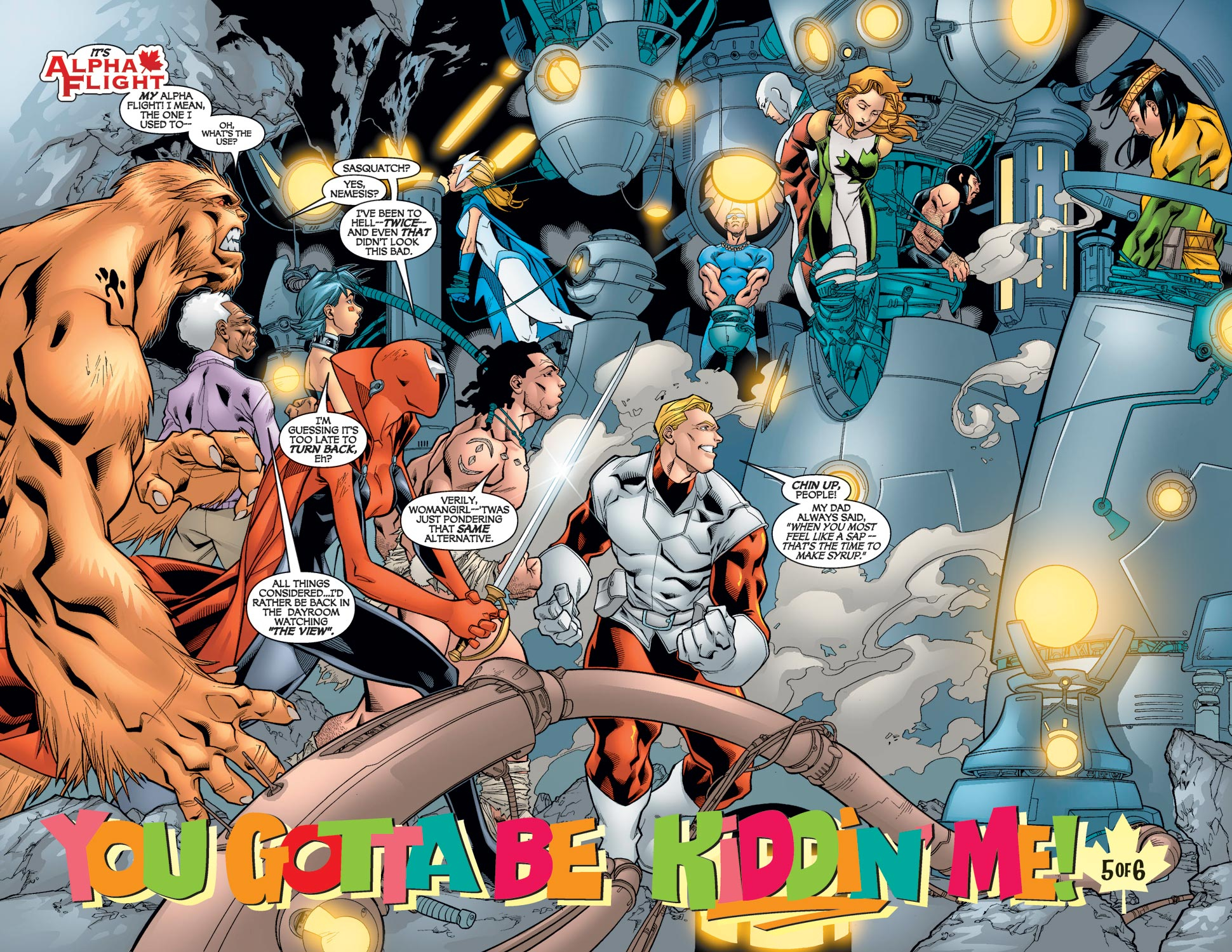 Read online Alpha Flight (2004) comic -  Issue #5 - 7