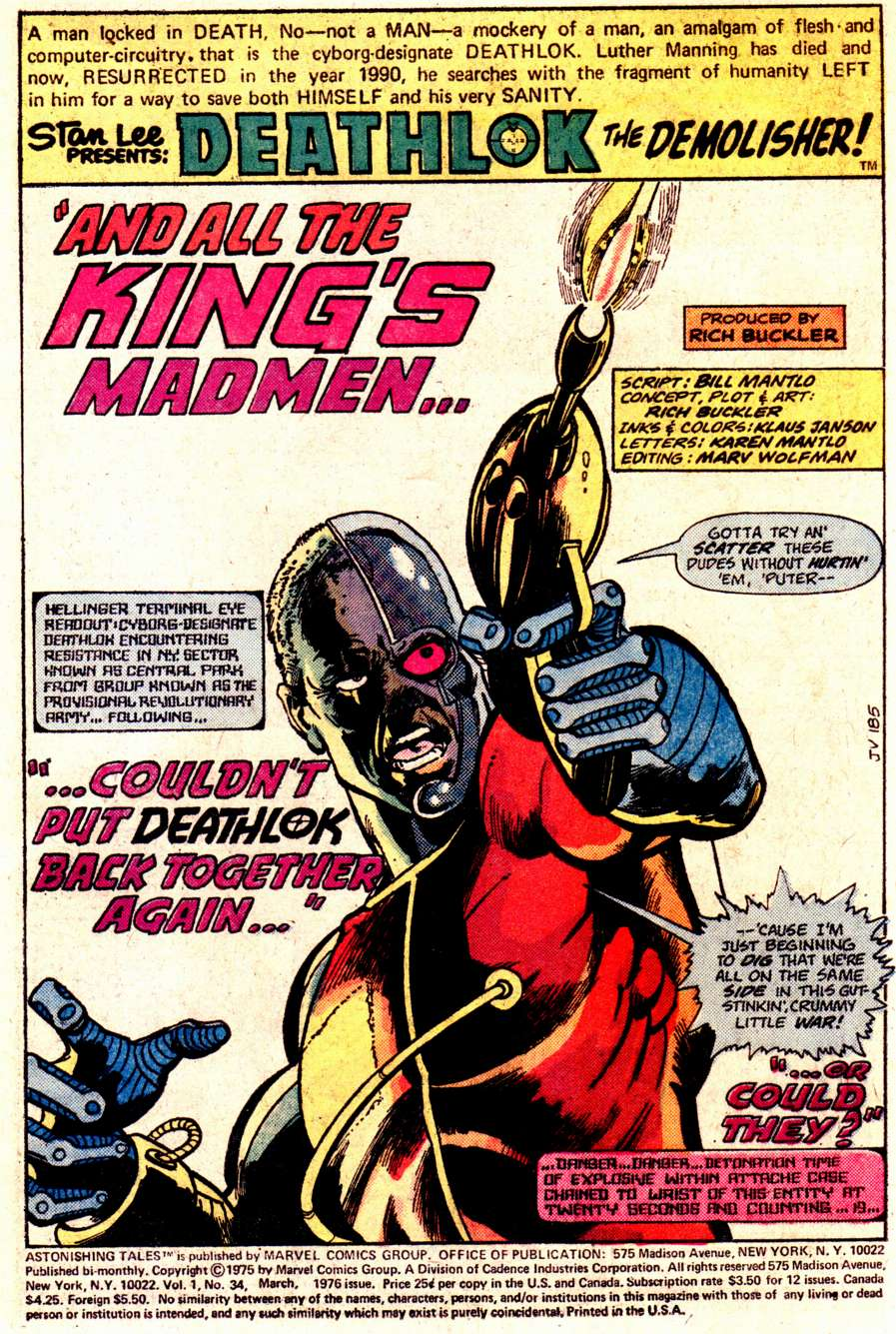 Read online Astonishing Tales (1970) comic -  Issue #34 - 2