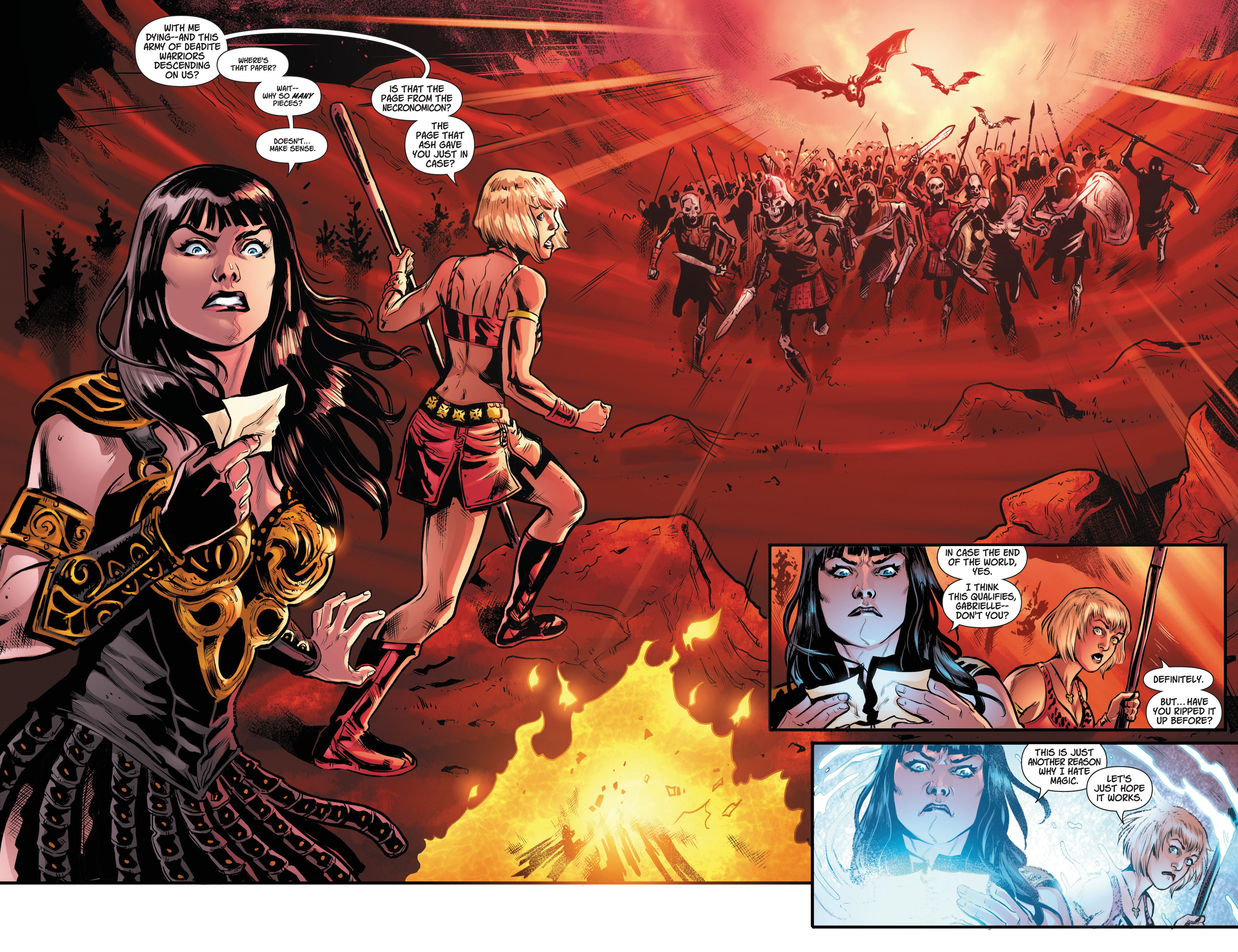 Read online Army Of Darkness/Xena: Forever…And A Day comic -  Issue #3 - 4