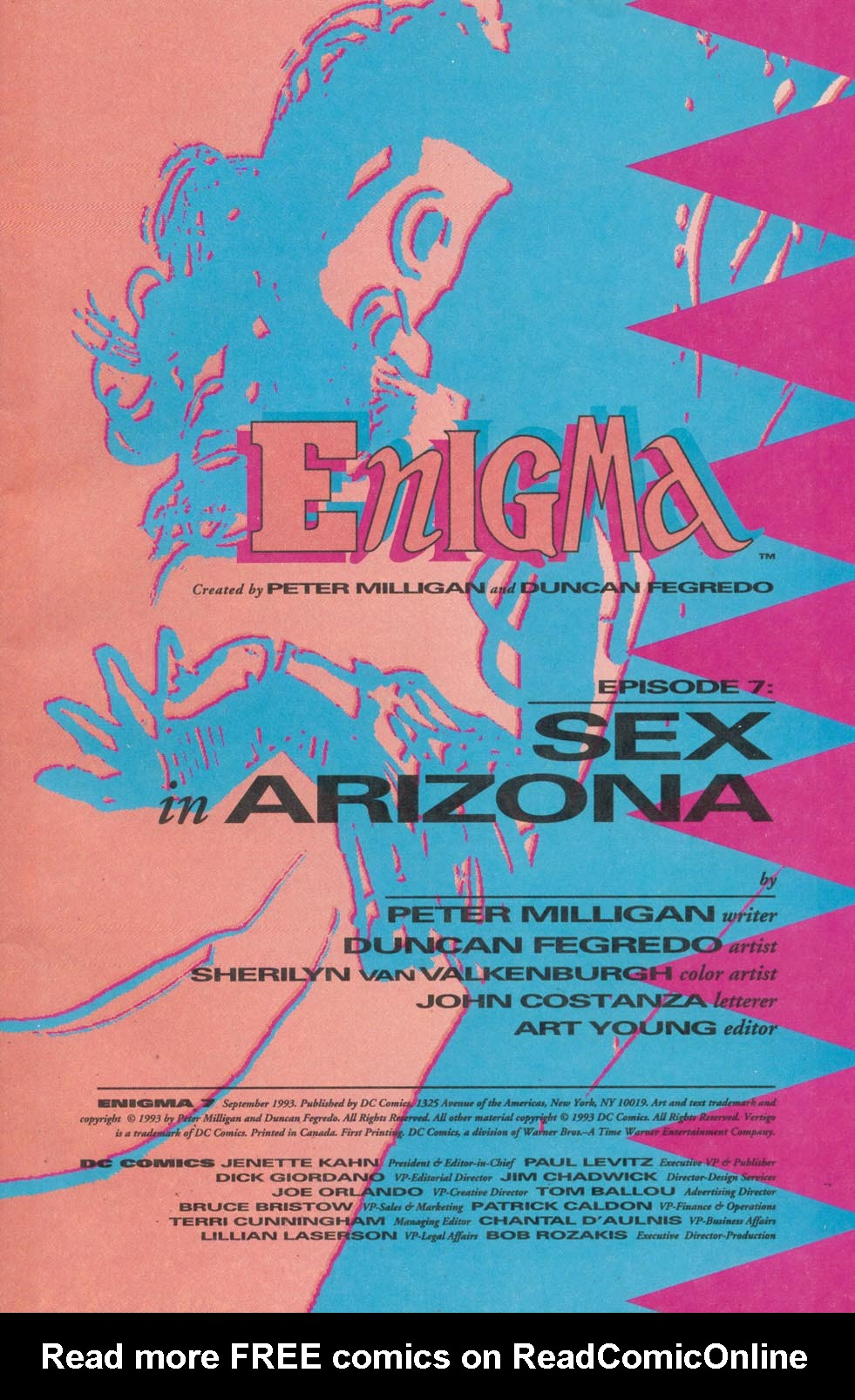 Read online Enigma comic -  Issue #7 - 2