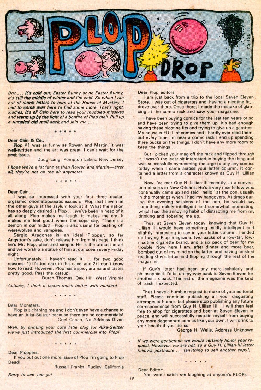 Read online Plop! comic -  Issue #5 - 20