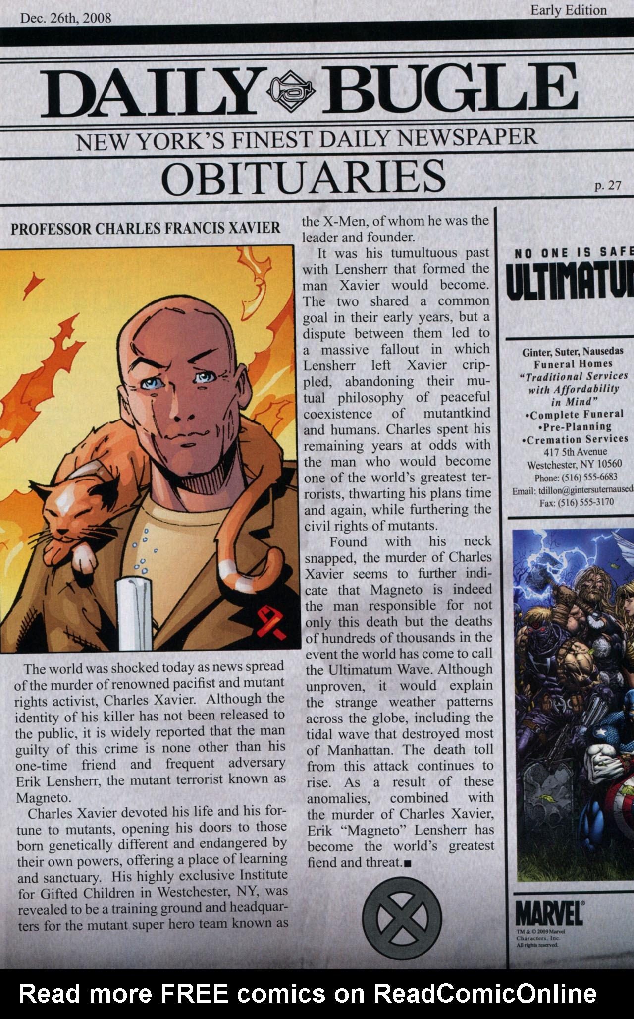 Read online Ultimatum: X-Men Requiem comic -  Issue # Full - 31