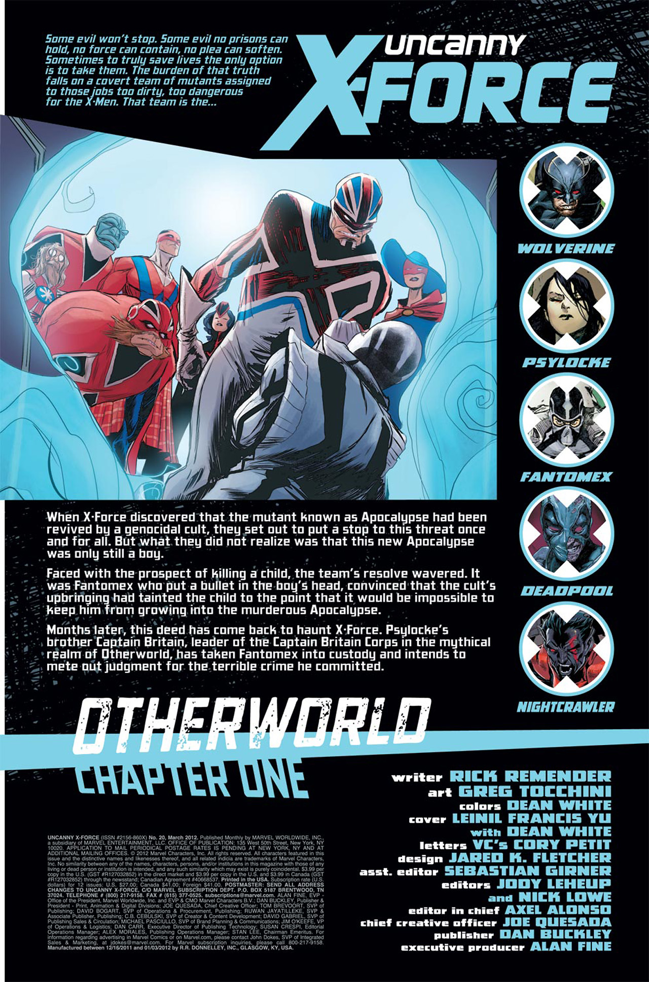 Read online Uncanny X-Force (2010) comic -  Issue #20 - 2