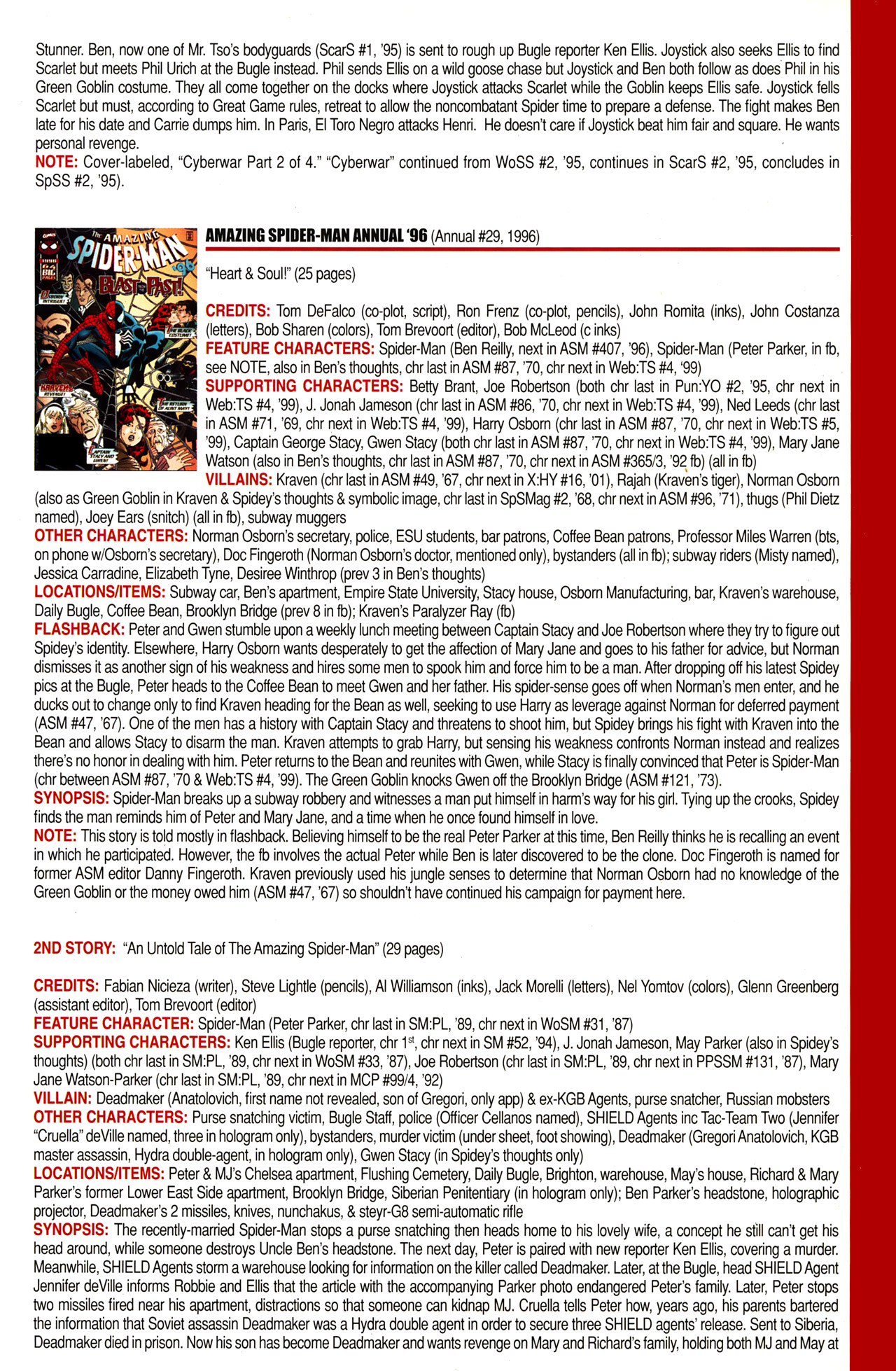 Read online Official Index to the Marvel Universe comic -  Issue #10 - 7