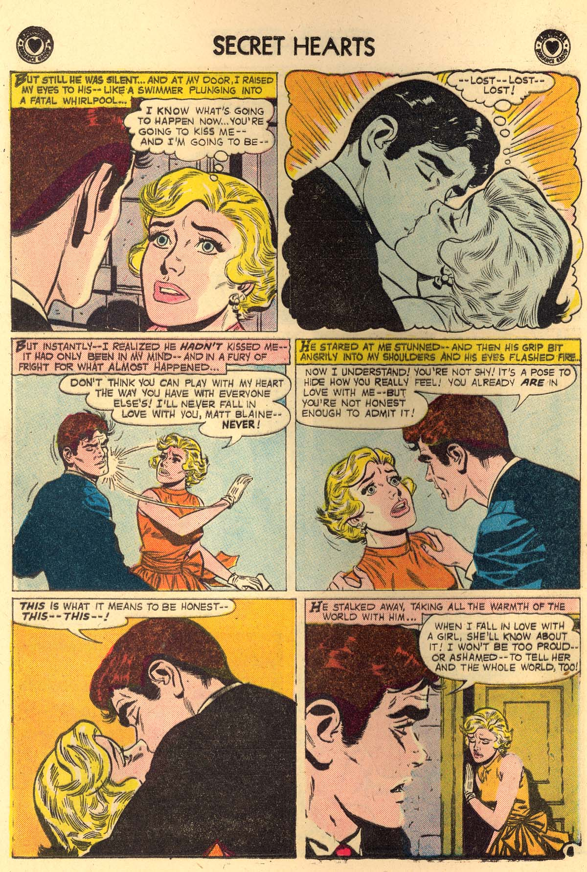 Read online Secret Hearts comic -  Issue #56 - 16