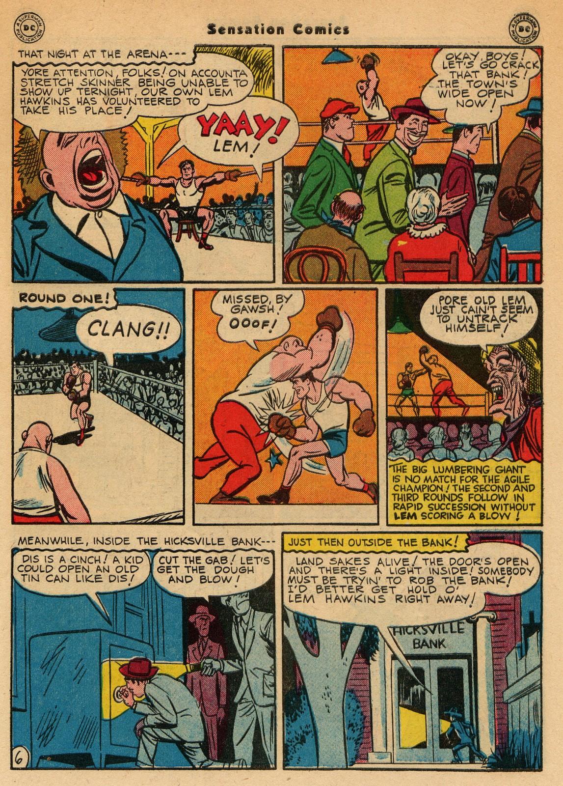 Read online Sensation (Mystery) Comics comic -  Issue #51 - 47