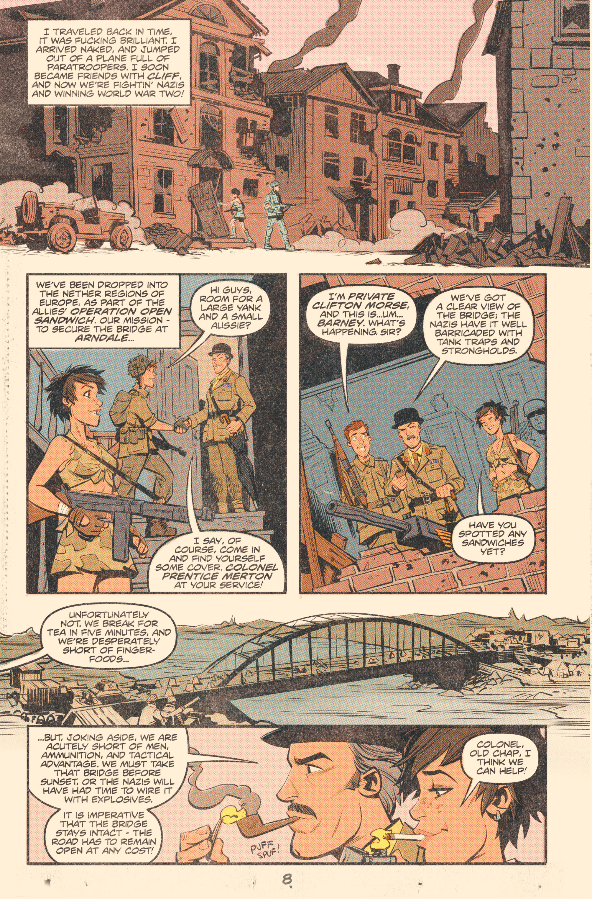 Read online Tank Girl: World War Tank Girl comic -  Issue #2 - 10