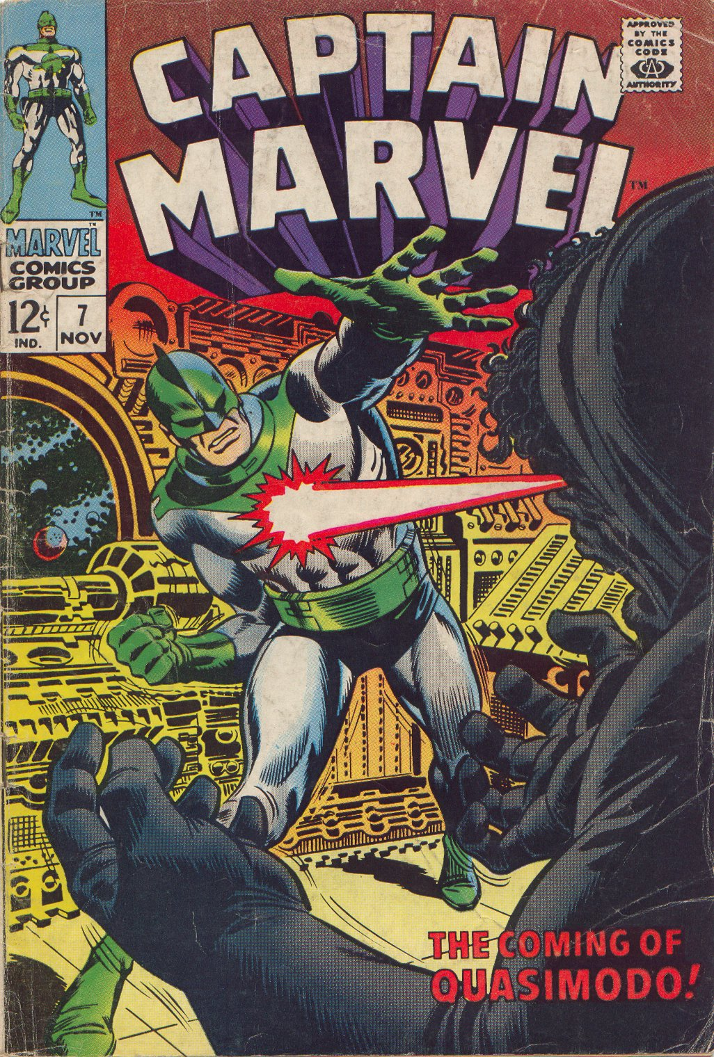 Captain Marvel (1968) Issue #7 #7 - English 1
